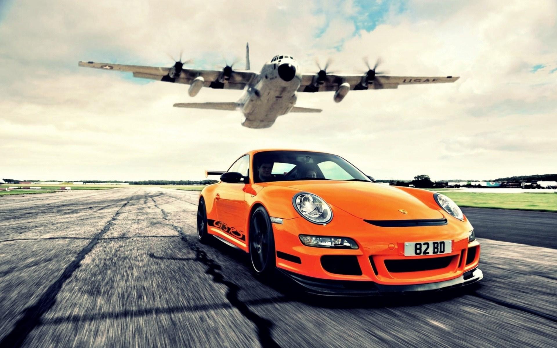 Porsche GT3 RS Aircraft Photo HD Image Wallpaper | HD Car Wallpaper | Things to Wear | Pinterest