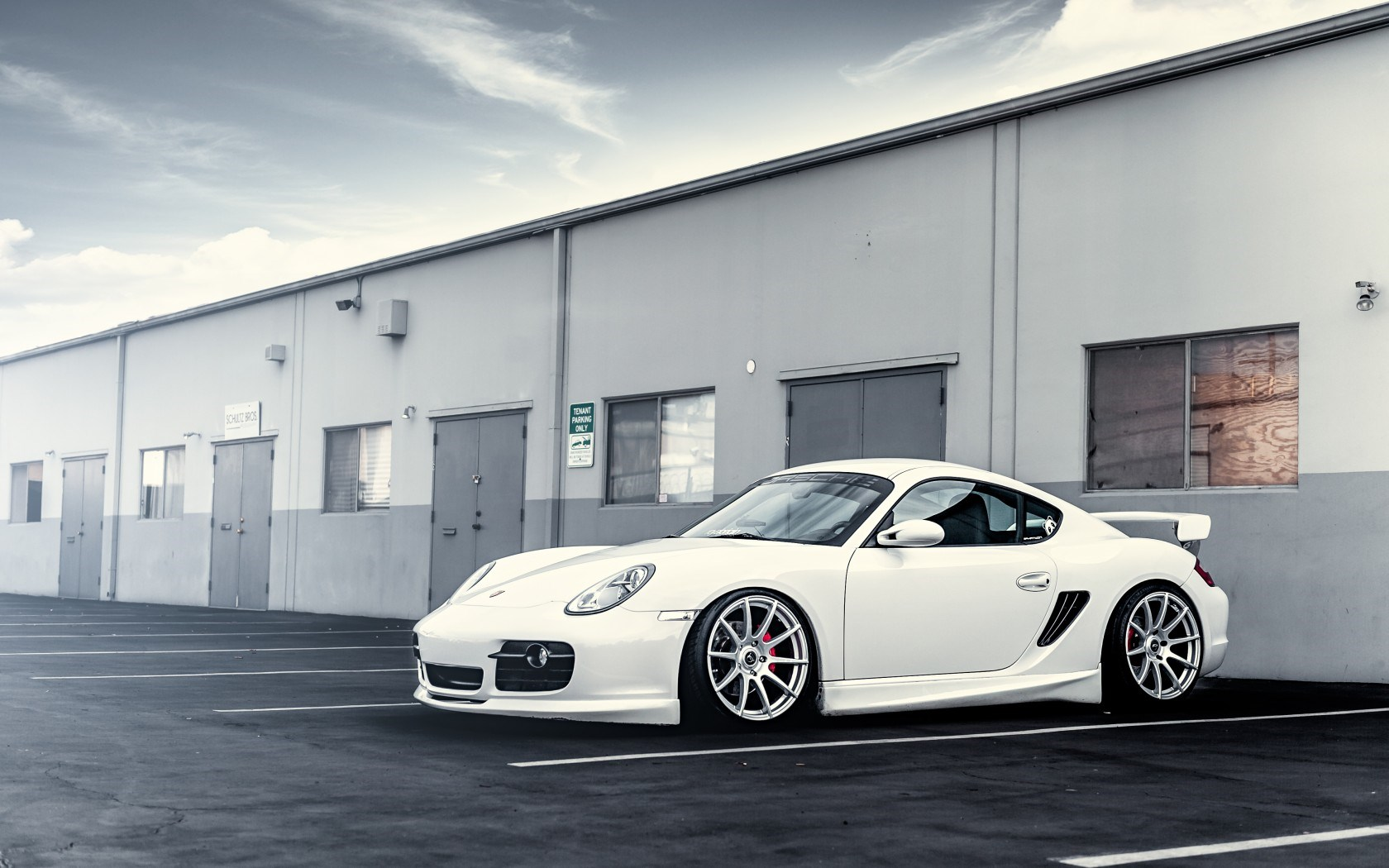 Porsche White Car Wheels Tuning