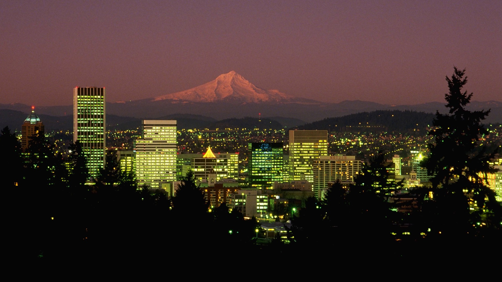 night Oregon Portland wallpaper