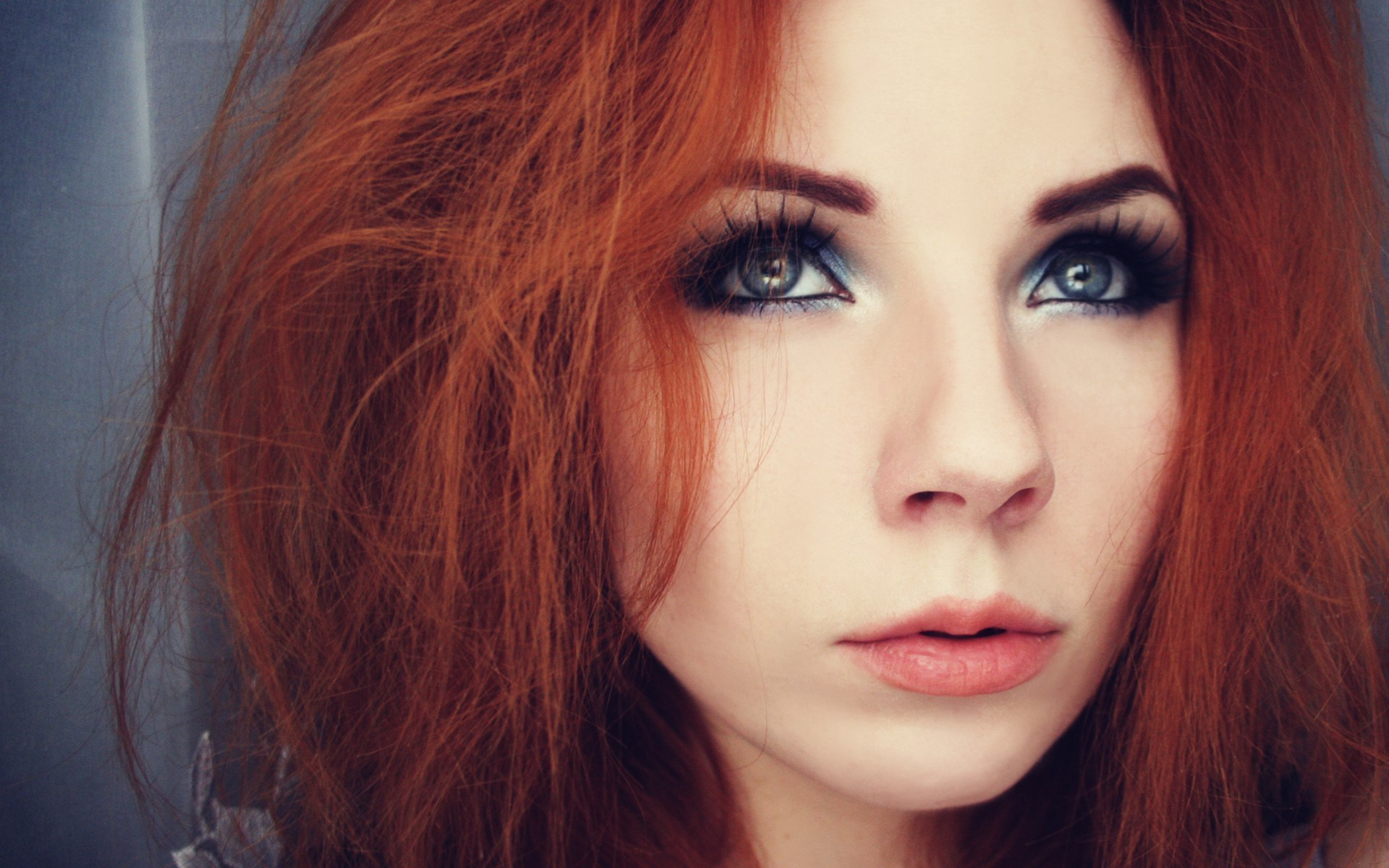 Portrait Redhead Girl Look