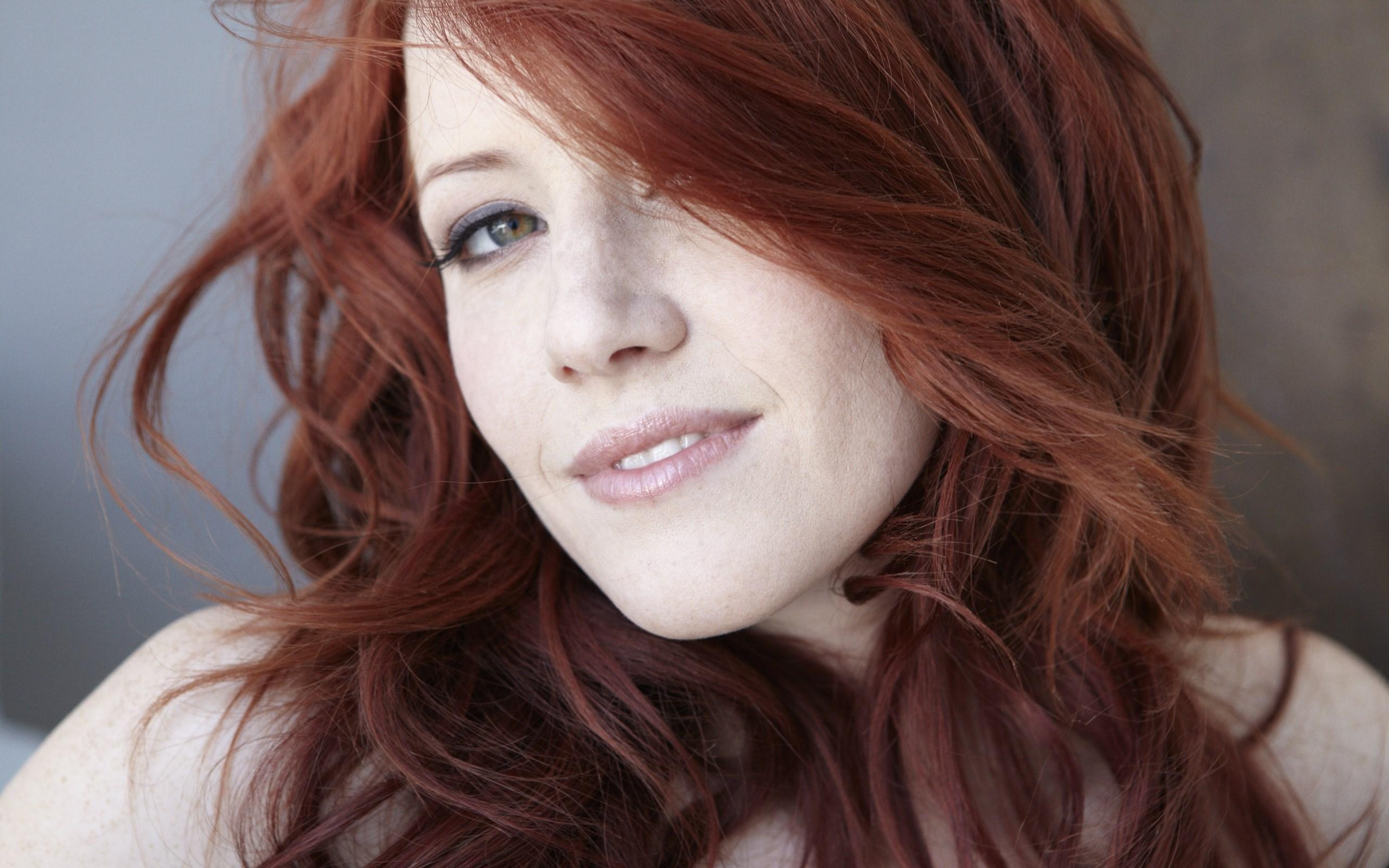 Portrait Redhead Girl Smile