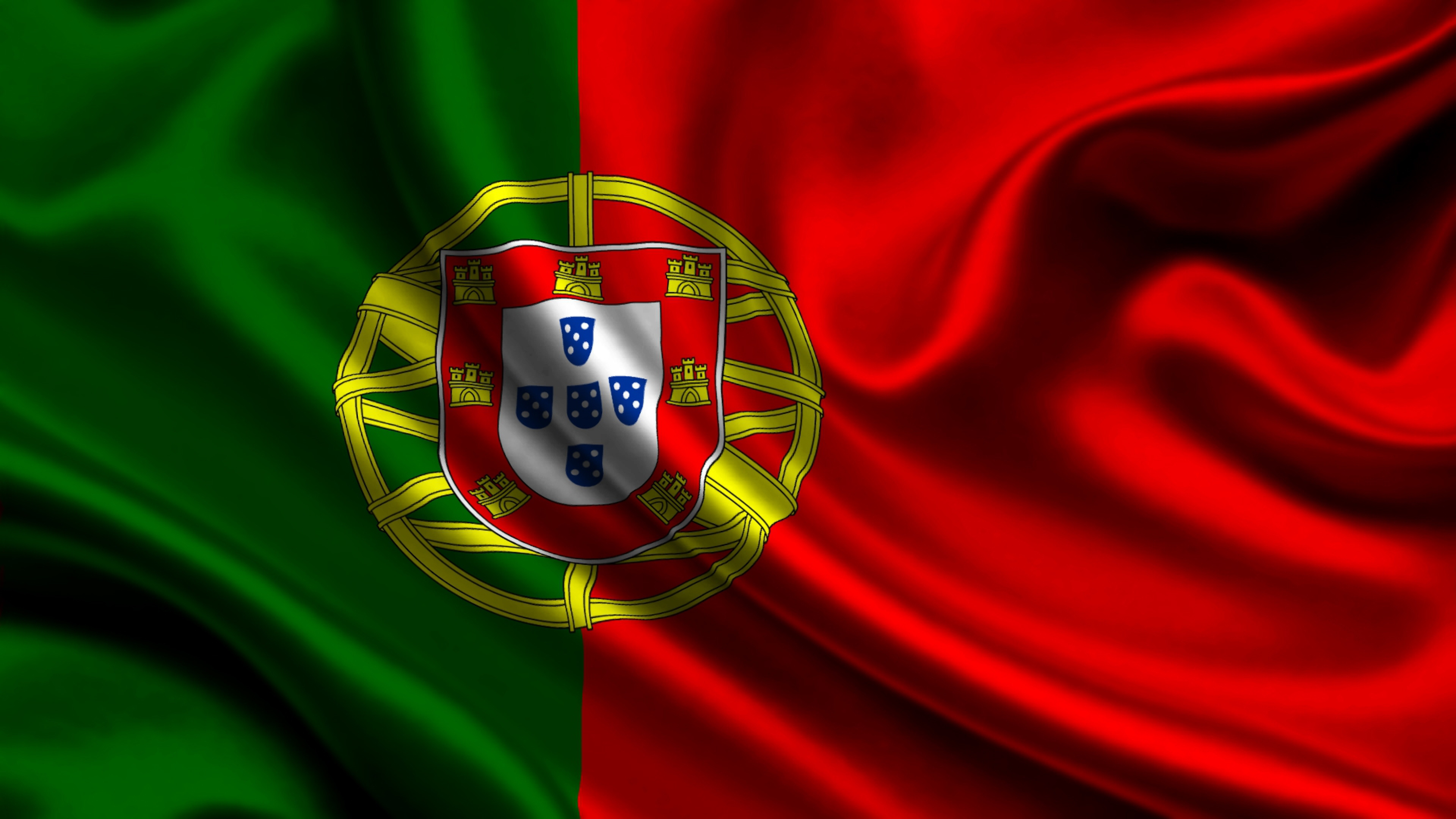 3840x2160 Wallpaper portugal, satin, flag, symbols