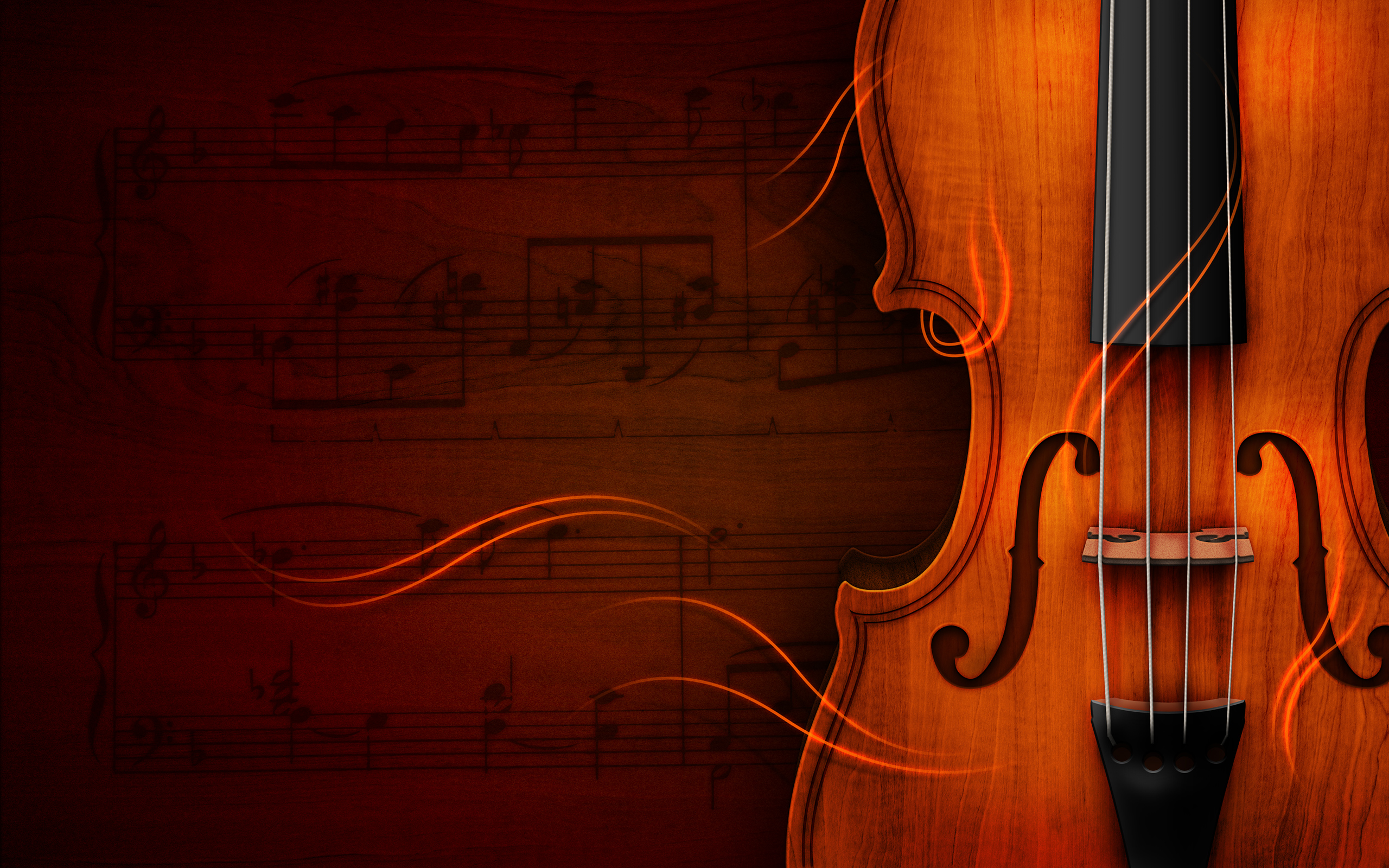 Pretty Violin Wallpaper
