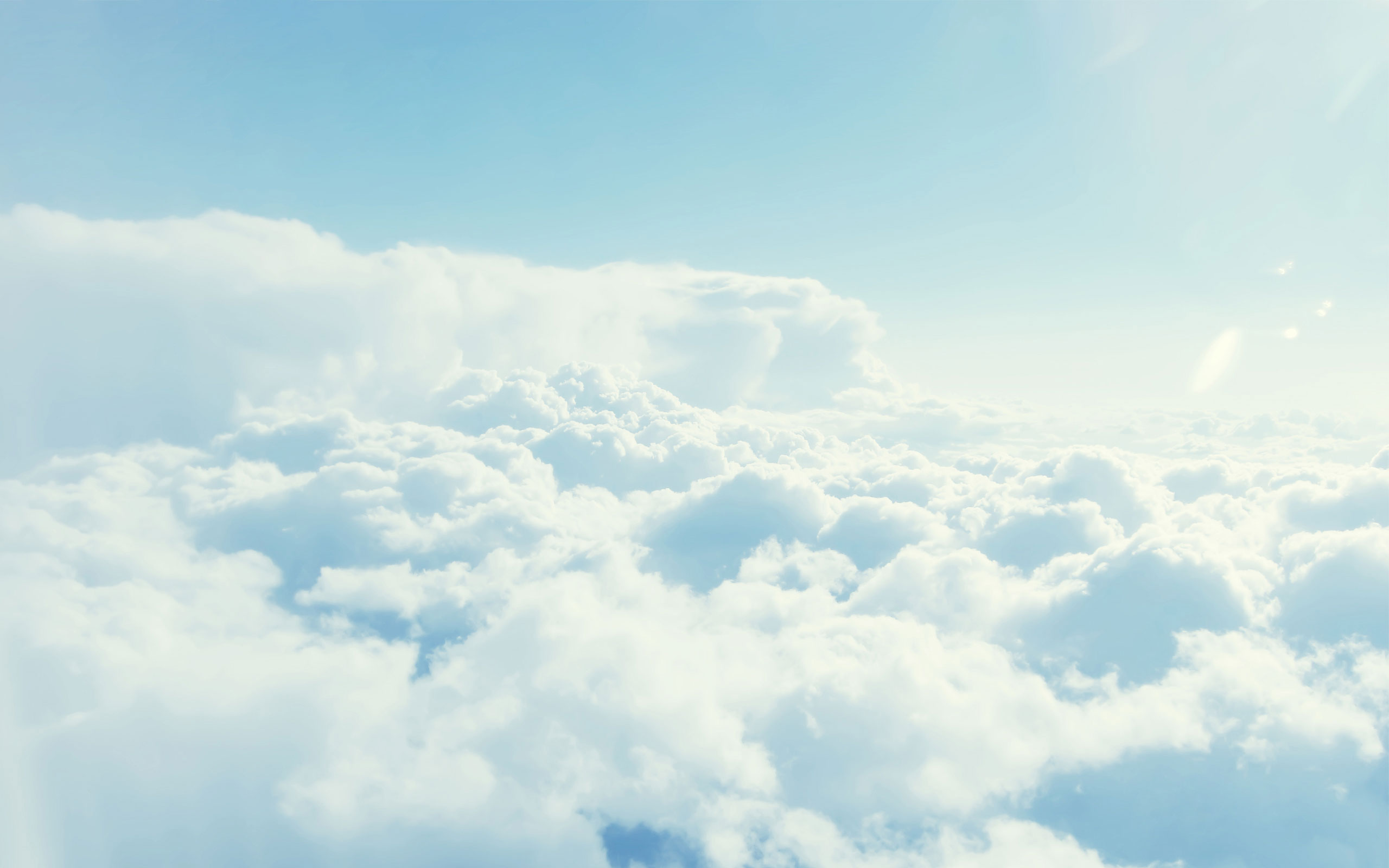 Pretty White Clouds Wallpaper