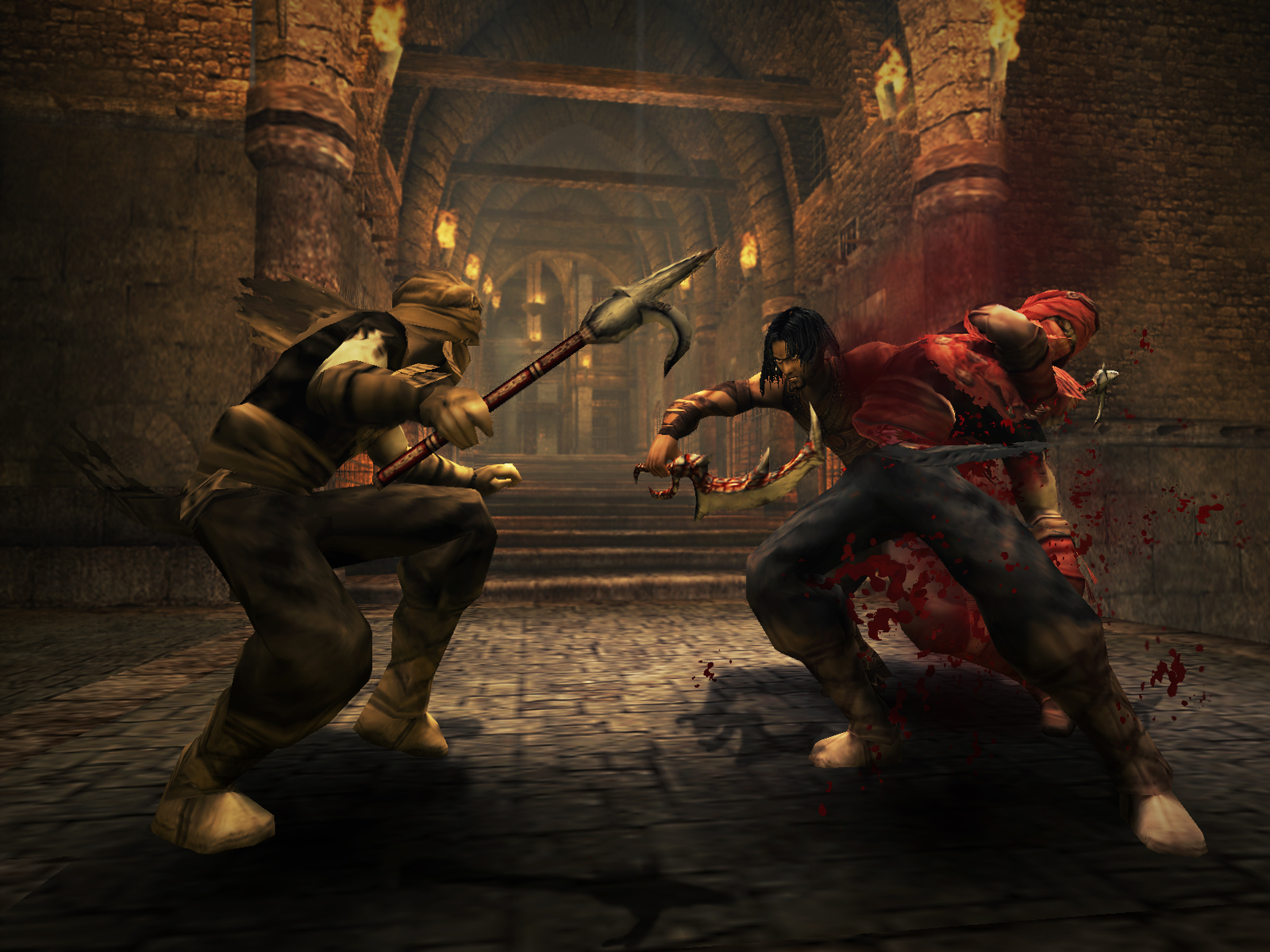 In this game Prince Of Persia Warrior Within player has also ability of steal his enemy's weapons and throw them. Player can also use his new and unique ...