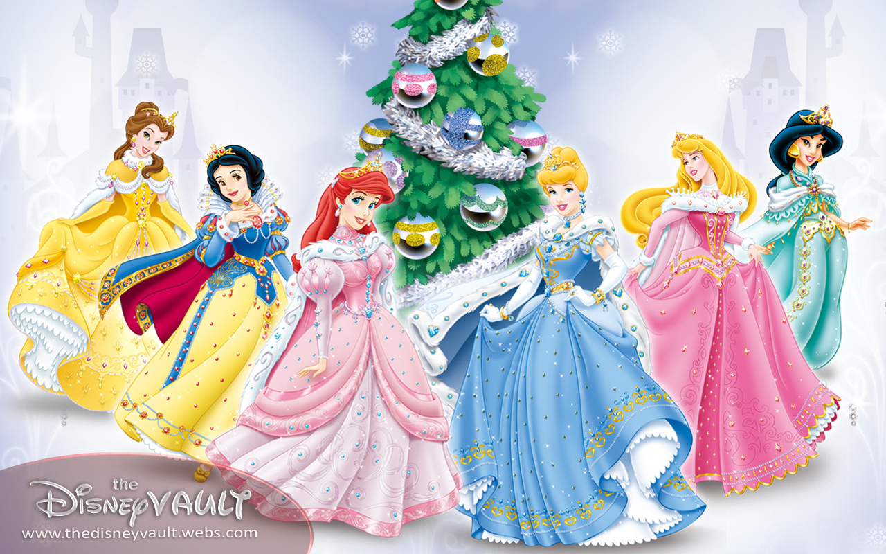 Wallpaper Disney Prince: Xmas Disney Princess Wallpaper 1280x800px