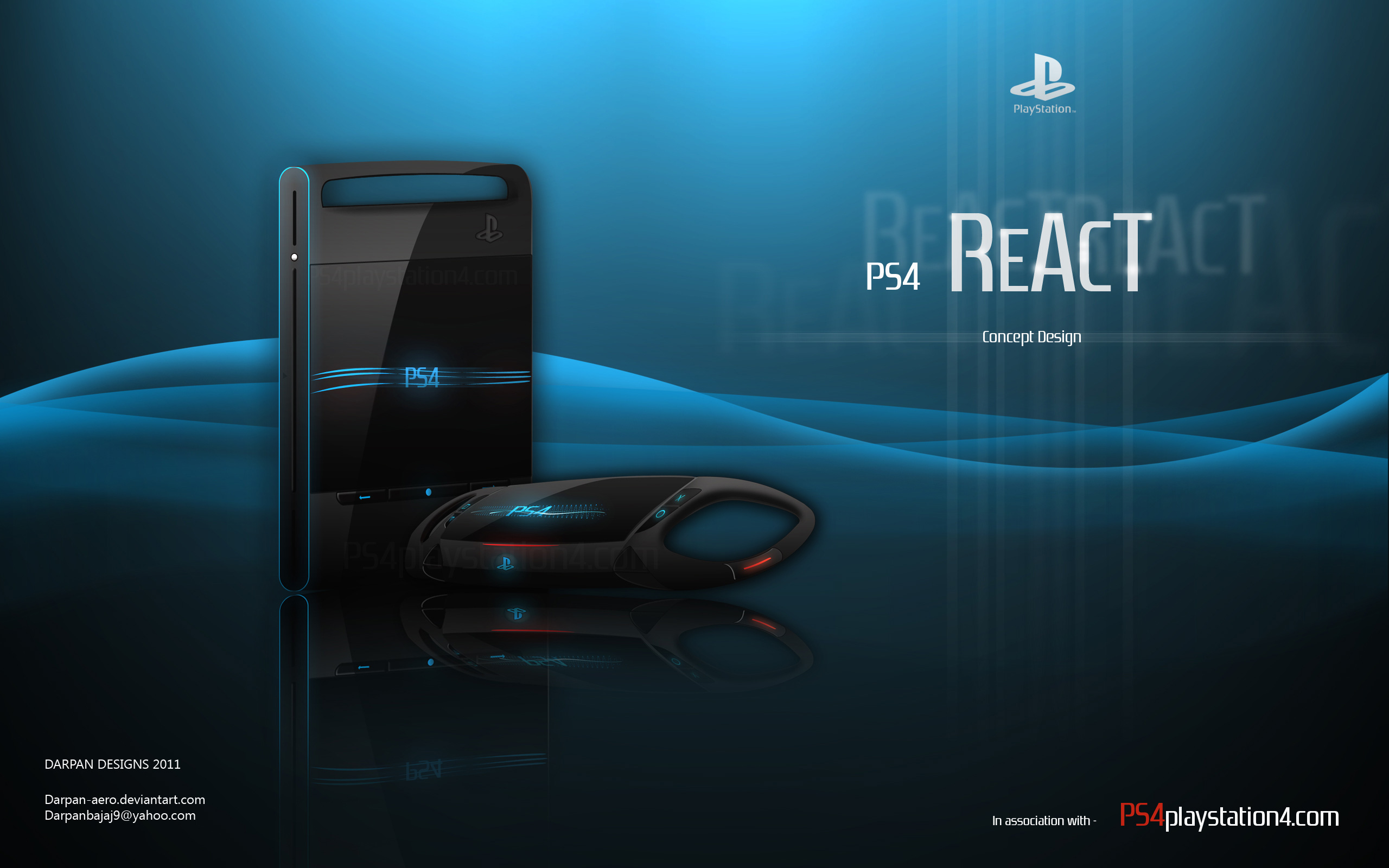 PS4 React Concept Design by Darpan
