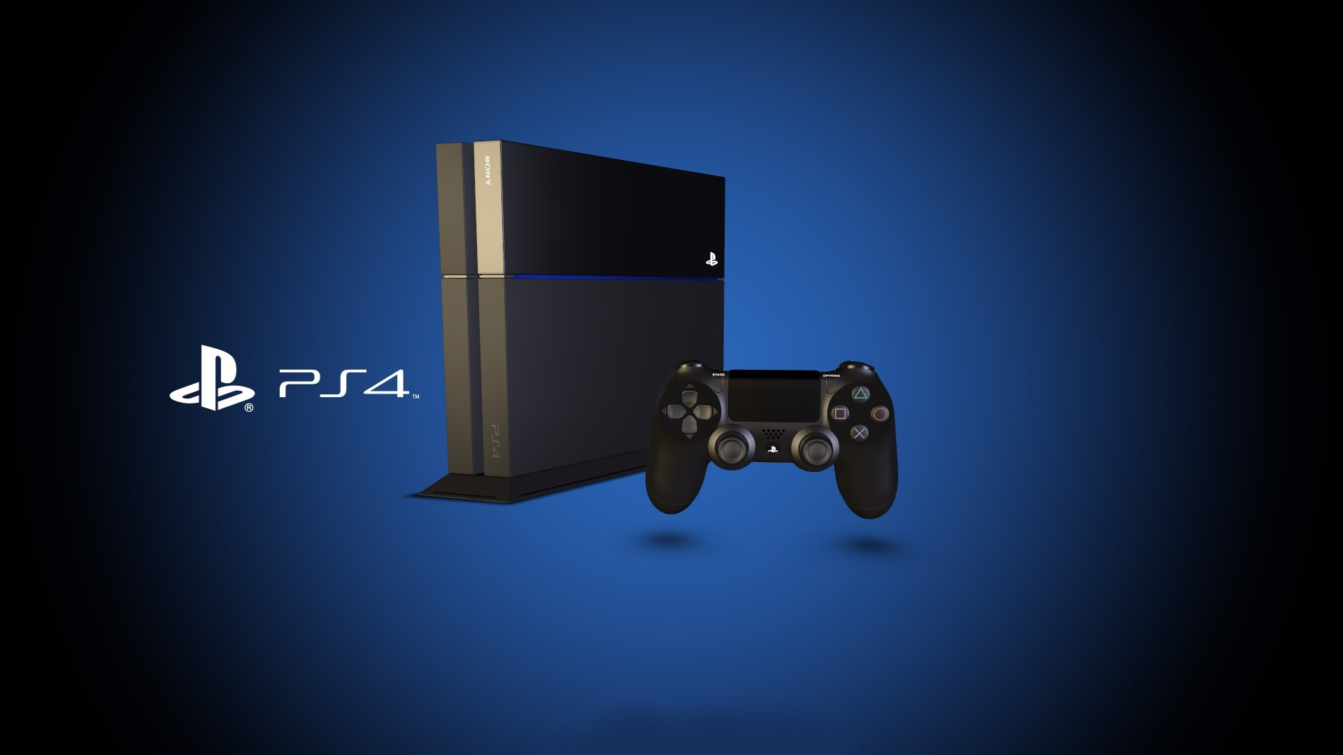 3d ps4 playstation 4 sony wallpaper