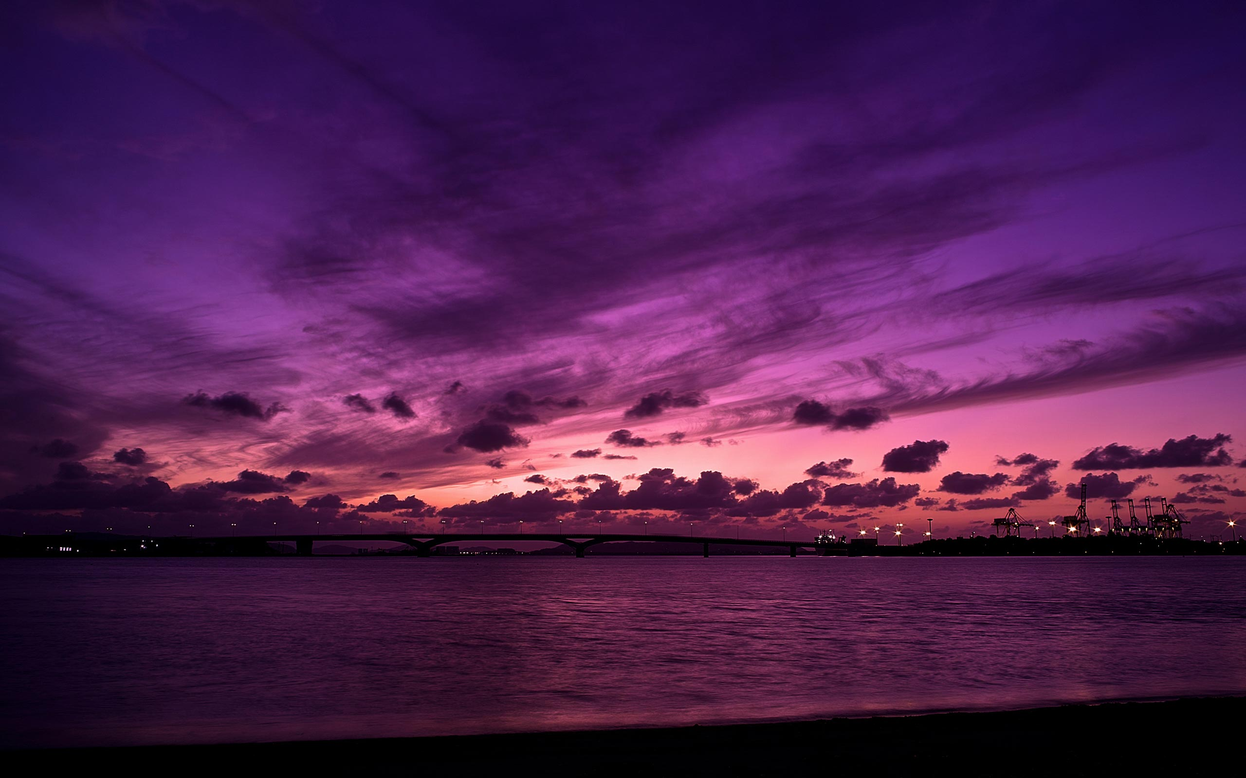... Stunning Purple Dusk Wallpaper