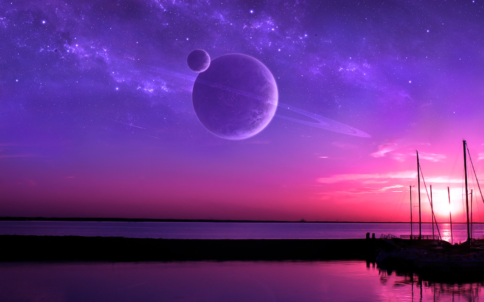 Purple Fantasy Sunset
