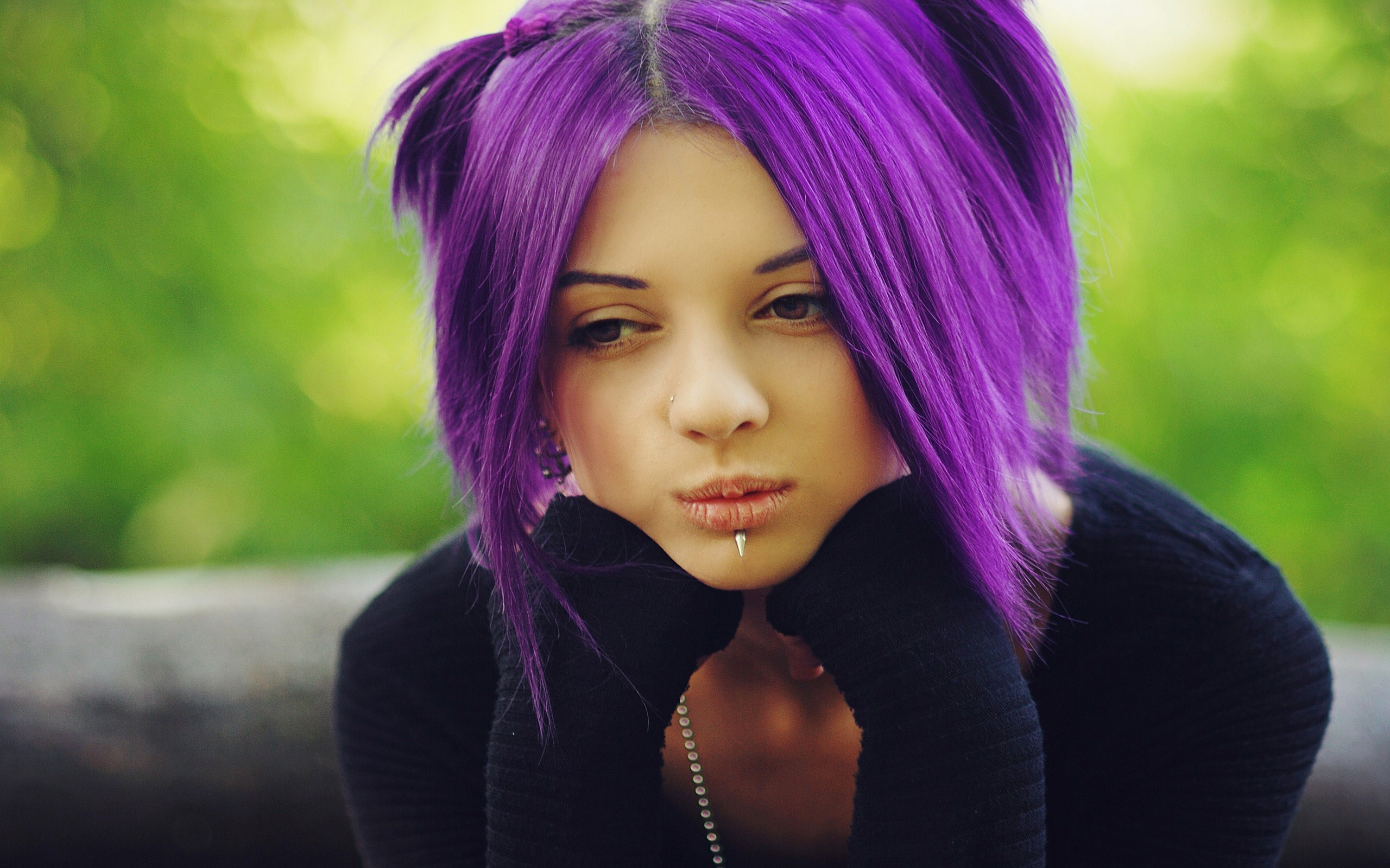 Purple Hair Wallpaper 35230 1920x1080 px