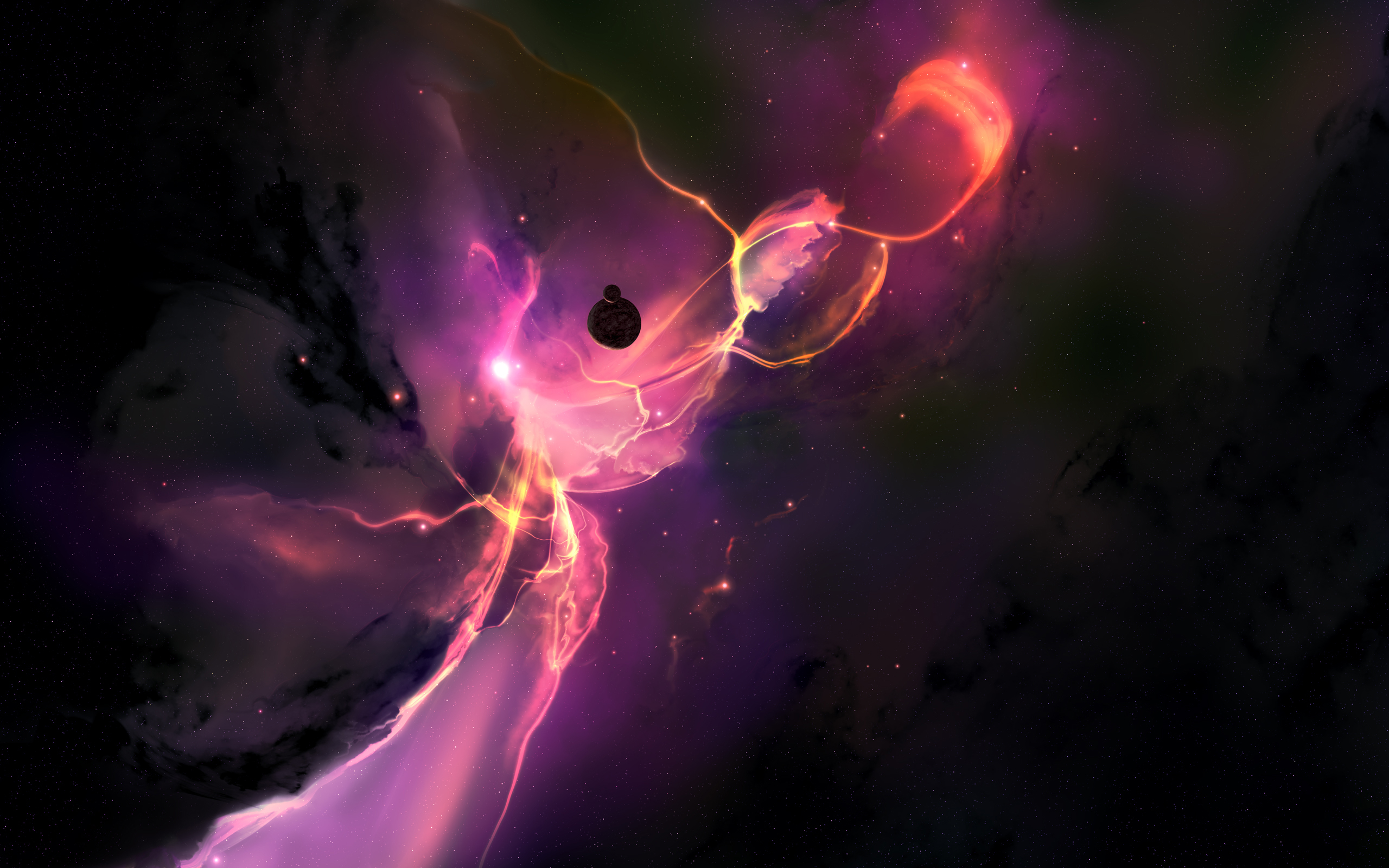 Purple space artwork