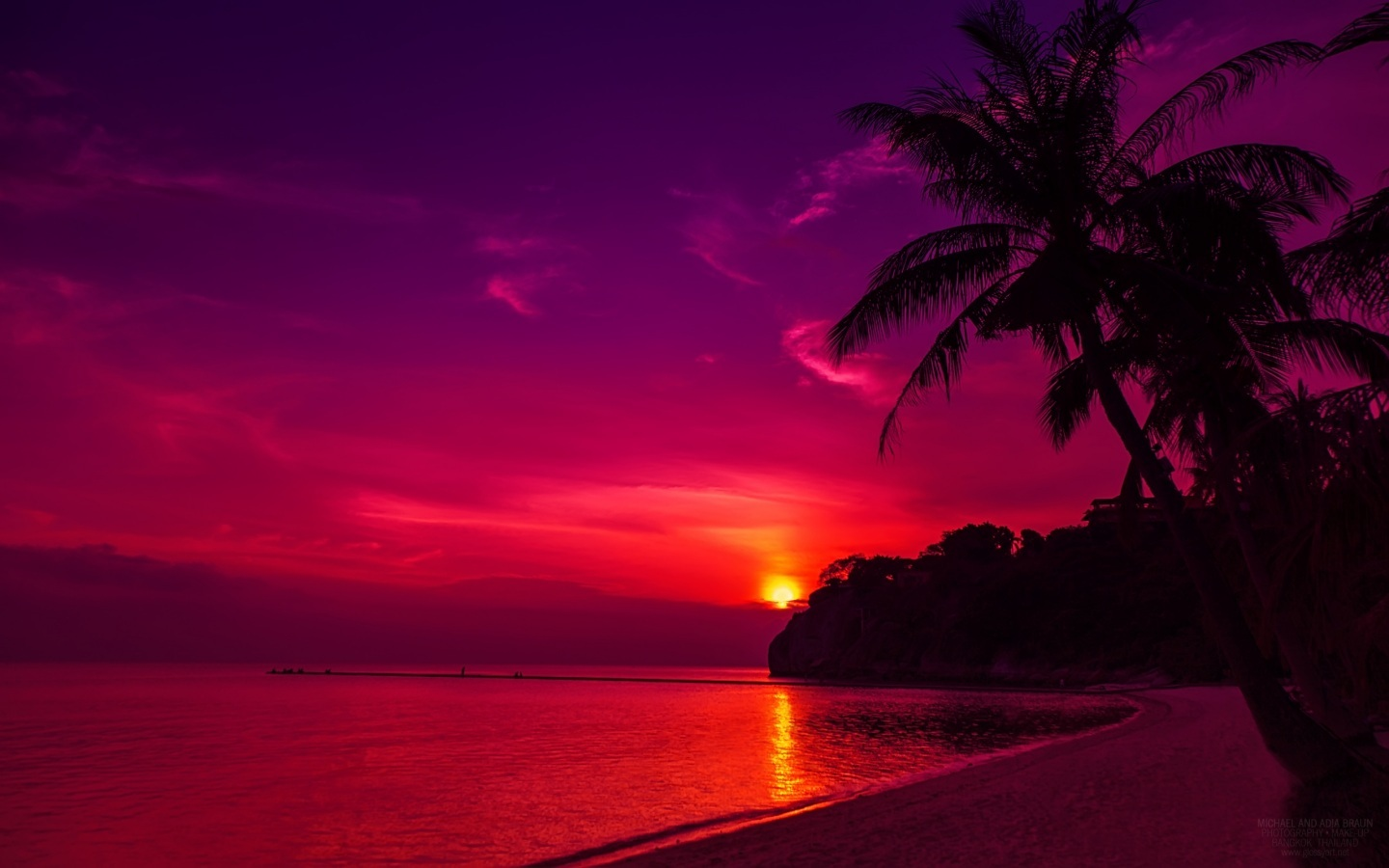 ... beach-purple-sunset-wallpaper ...