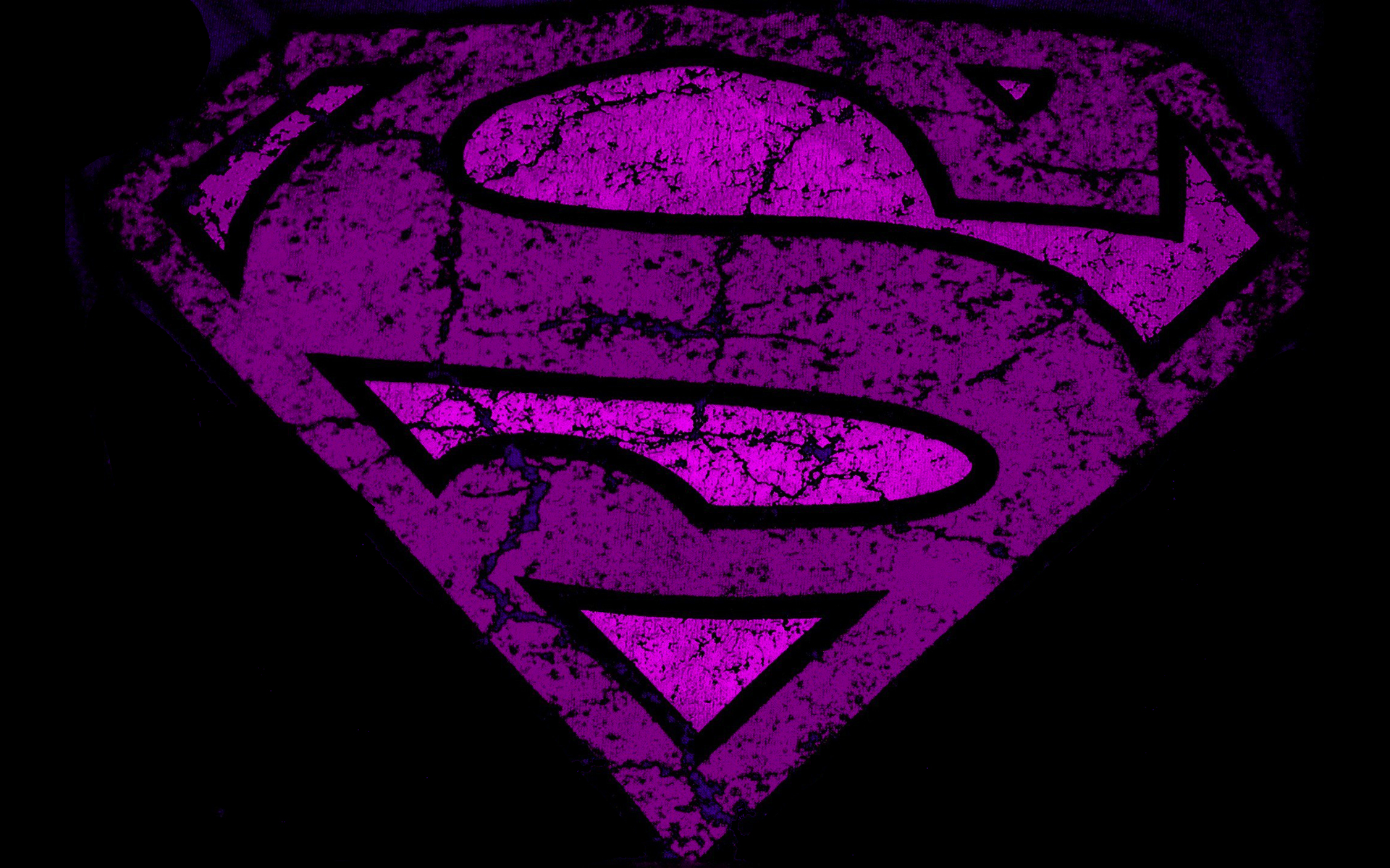 Purple superman logo