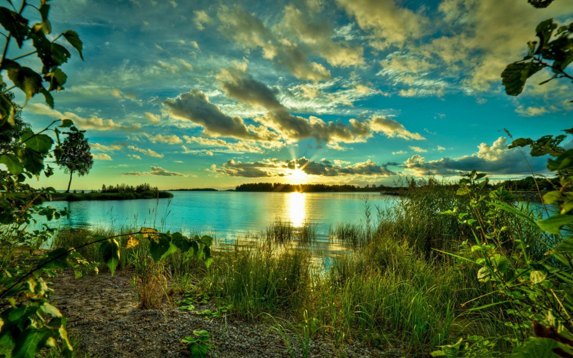 Quiet lake sunrise