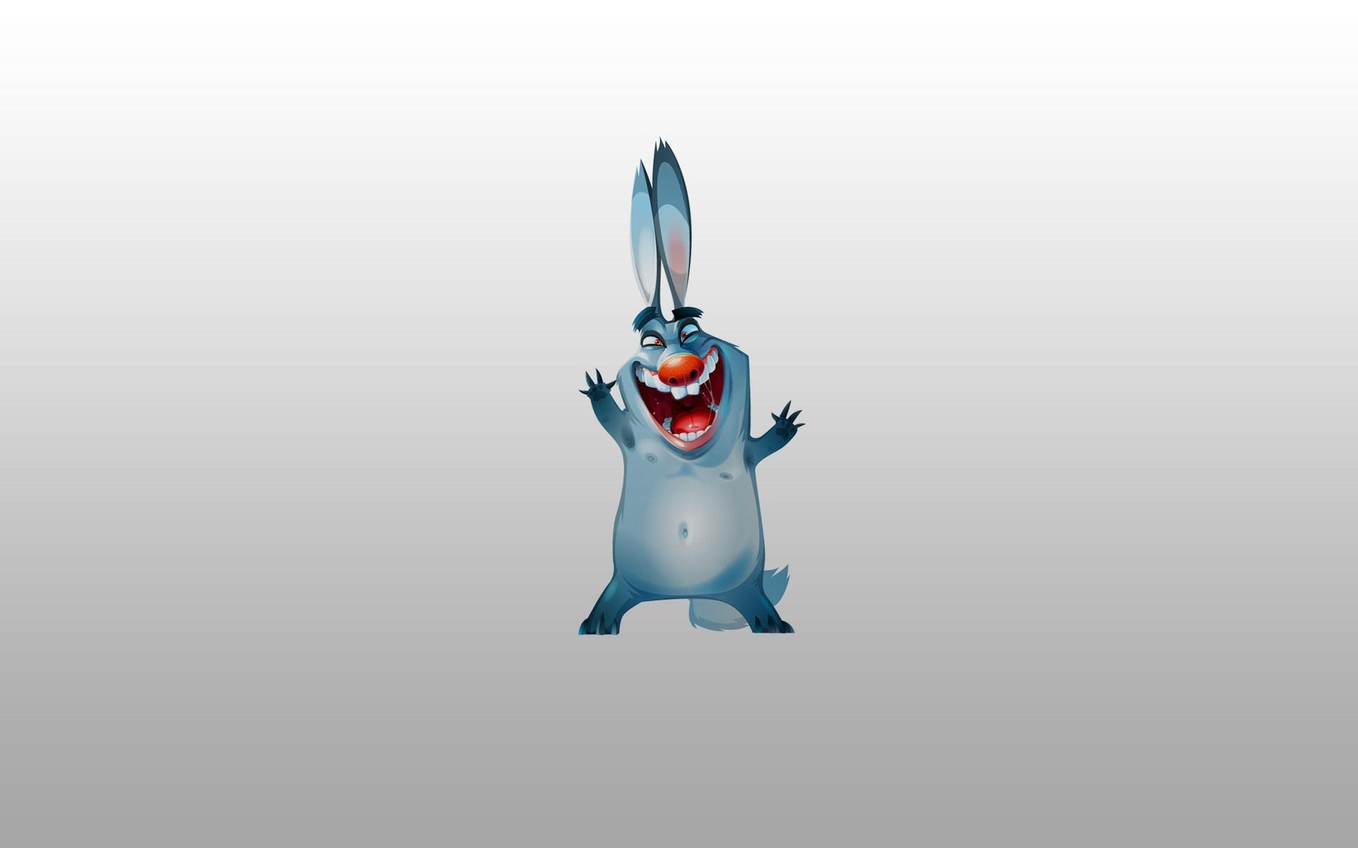 Rabbit Happy Minimalism Funny