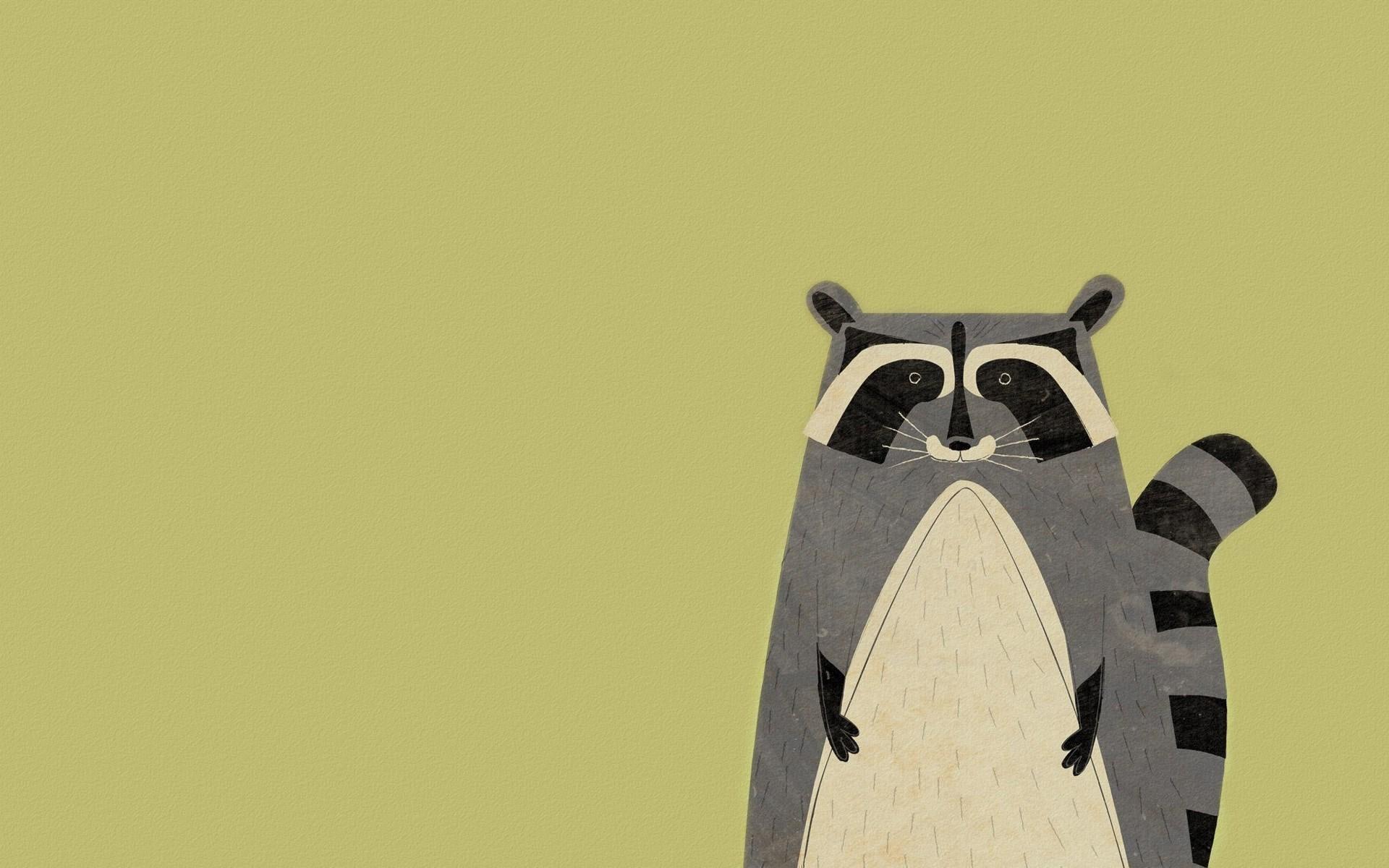 Animal Raccoon Minimalism Art