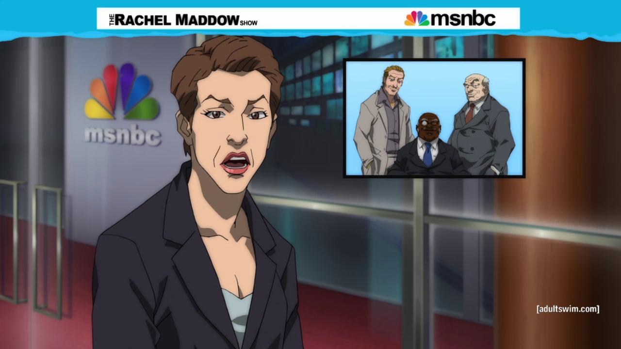 commie-pinko-liberal: hobbittastic: Maddow, Boondocks-ified.