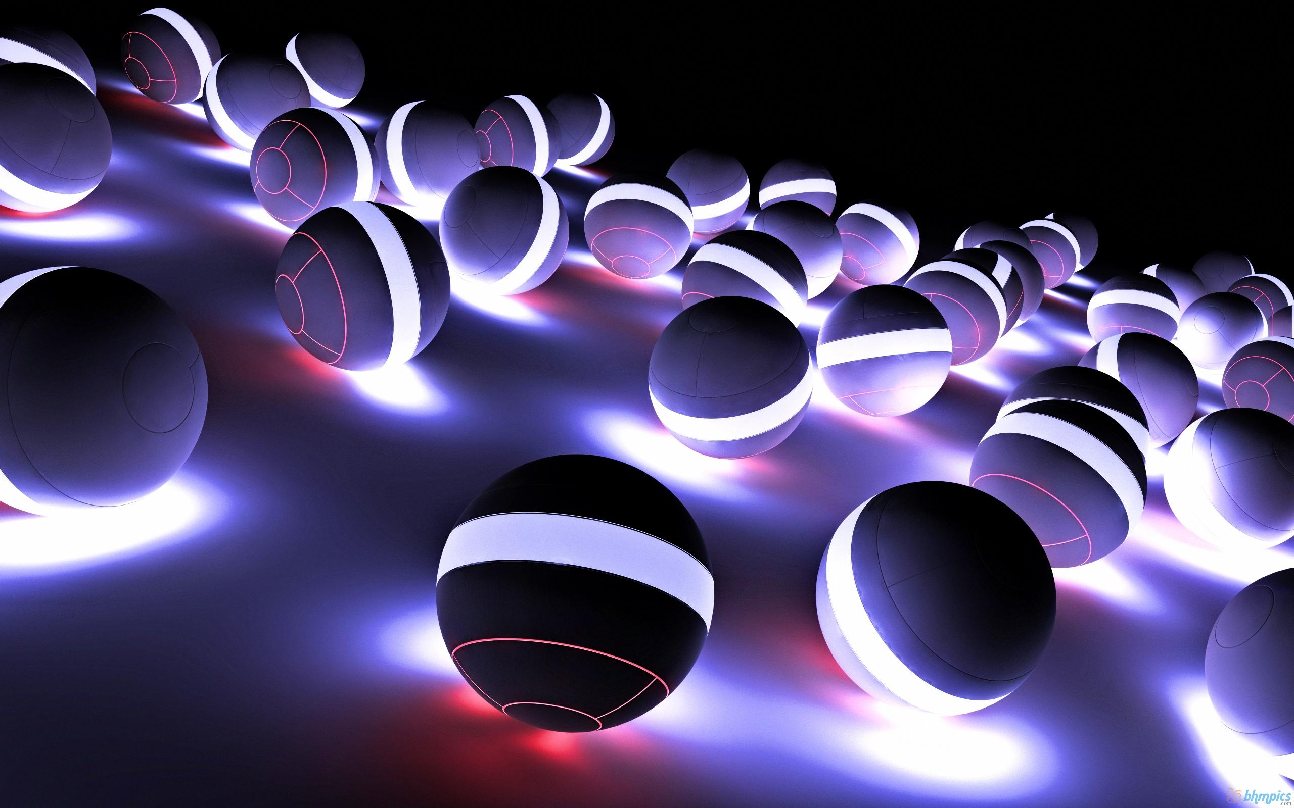 Radiant shining balls