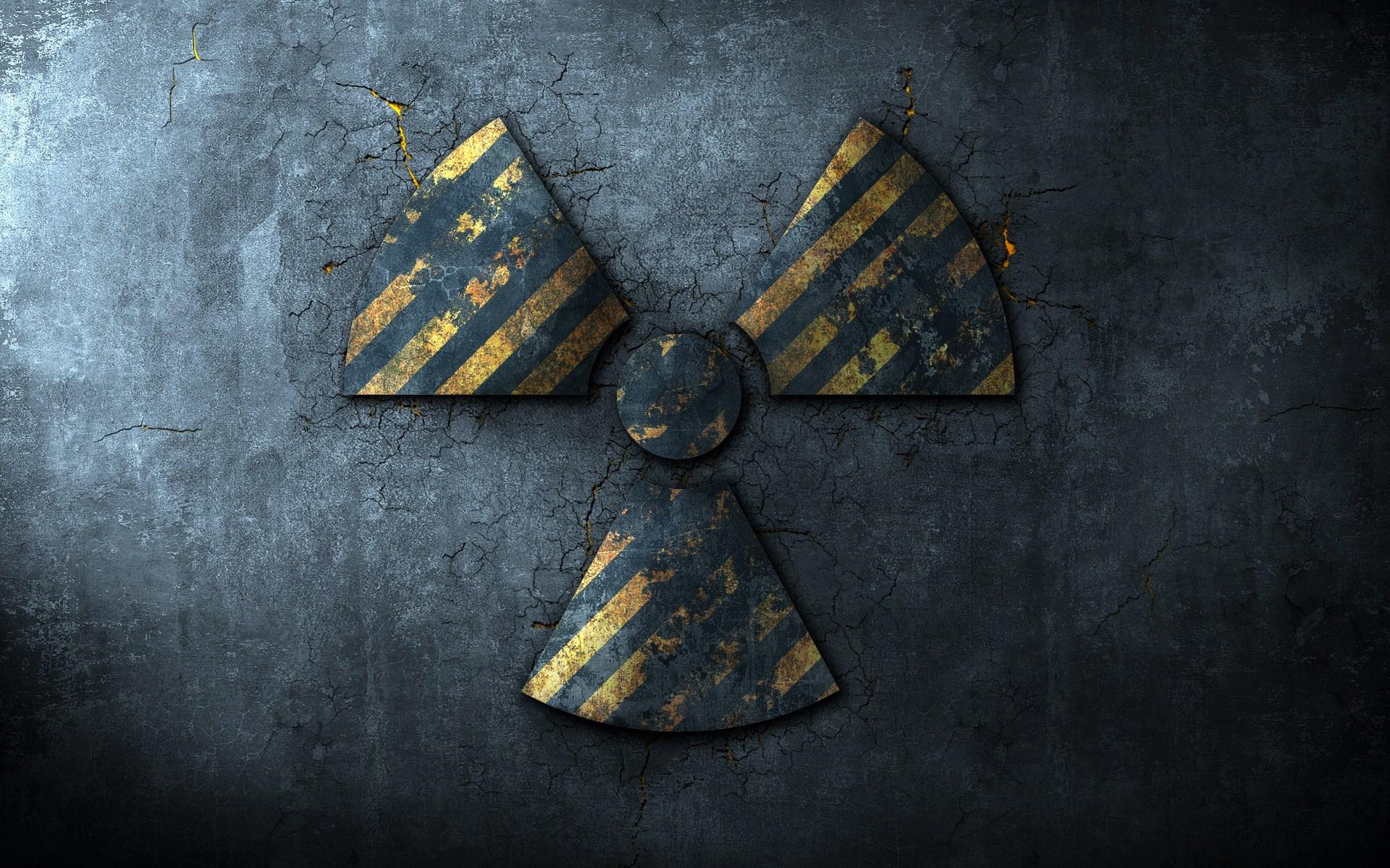 Radioactive Sign Pavement Cracks