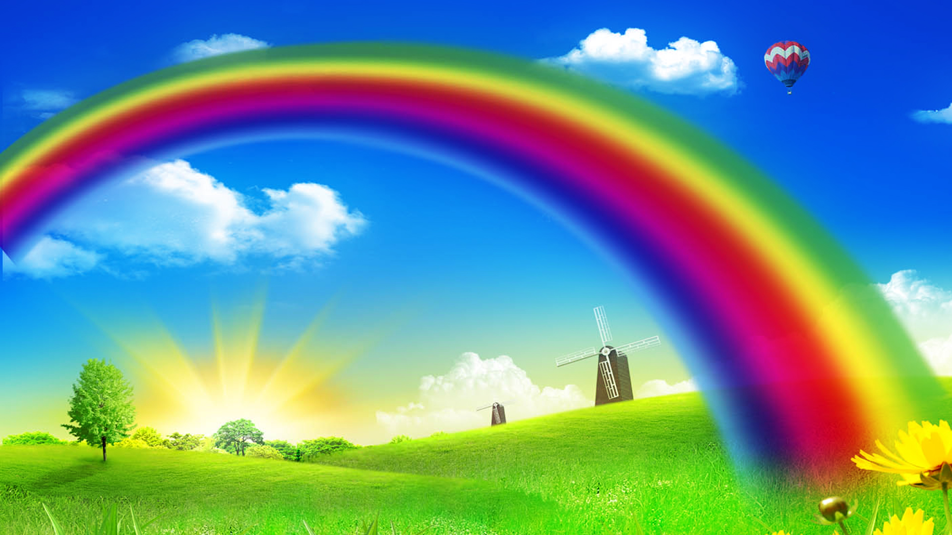 Beautiful Rainbow HD Wallpapers Free Download