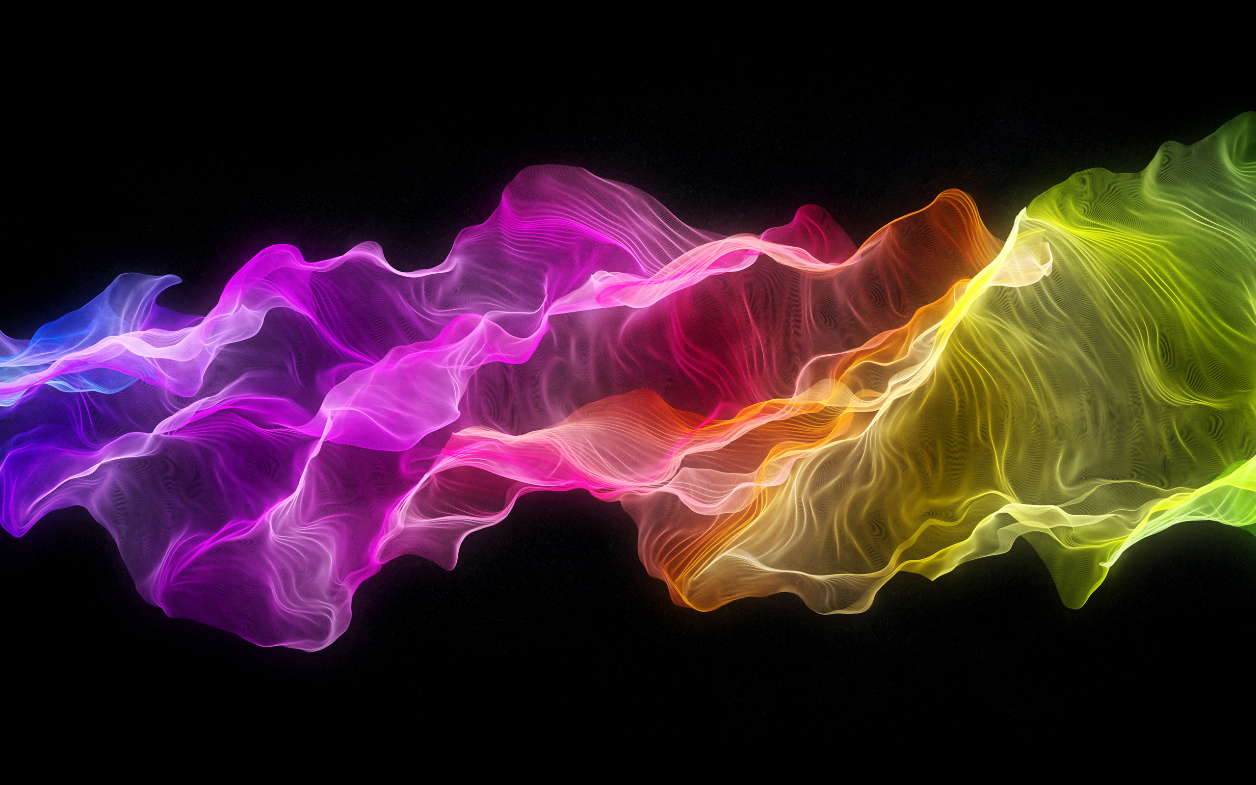 Rainbow art waves