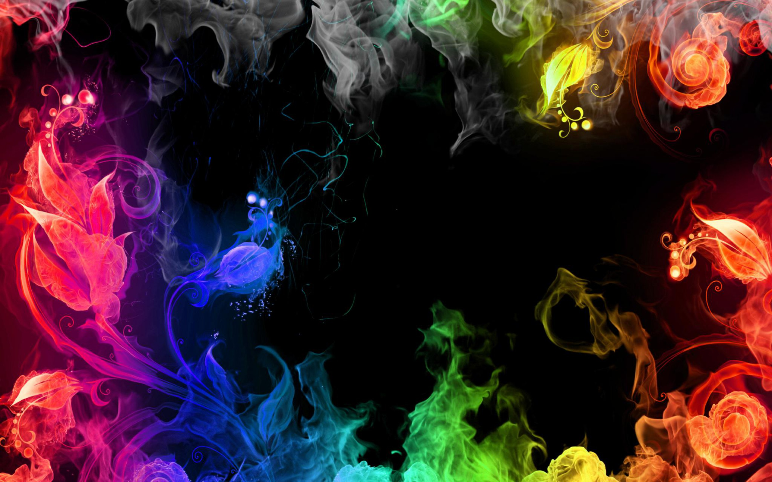 Rainbow Colors Fire
