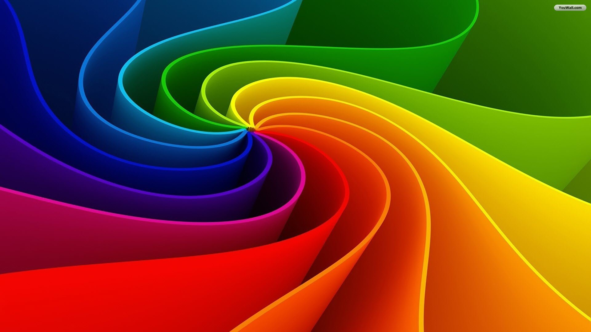 rainbow illustration wallpaper 1920x1080 - photo #14