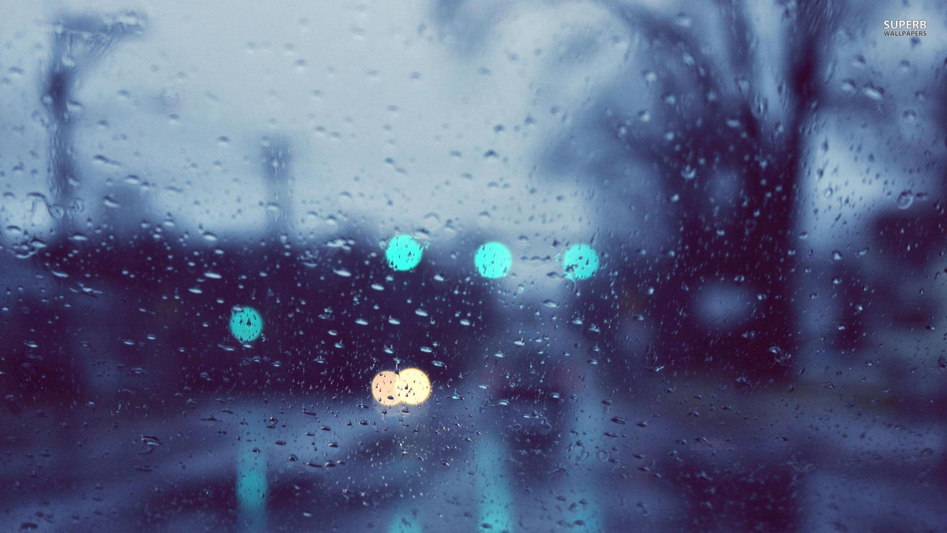 Rainy window wallpaper 1920x1080