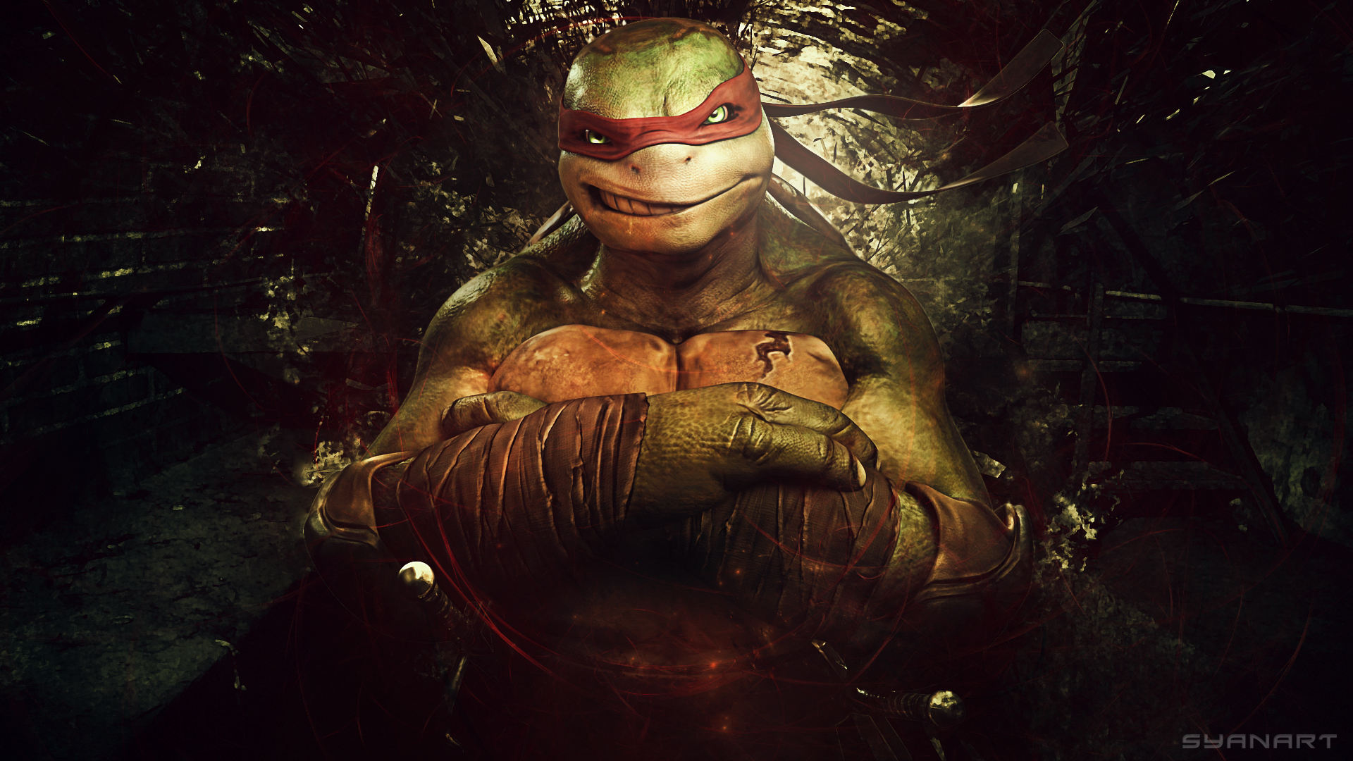 Raphael ninja turtles art