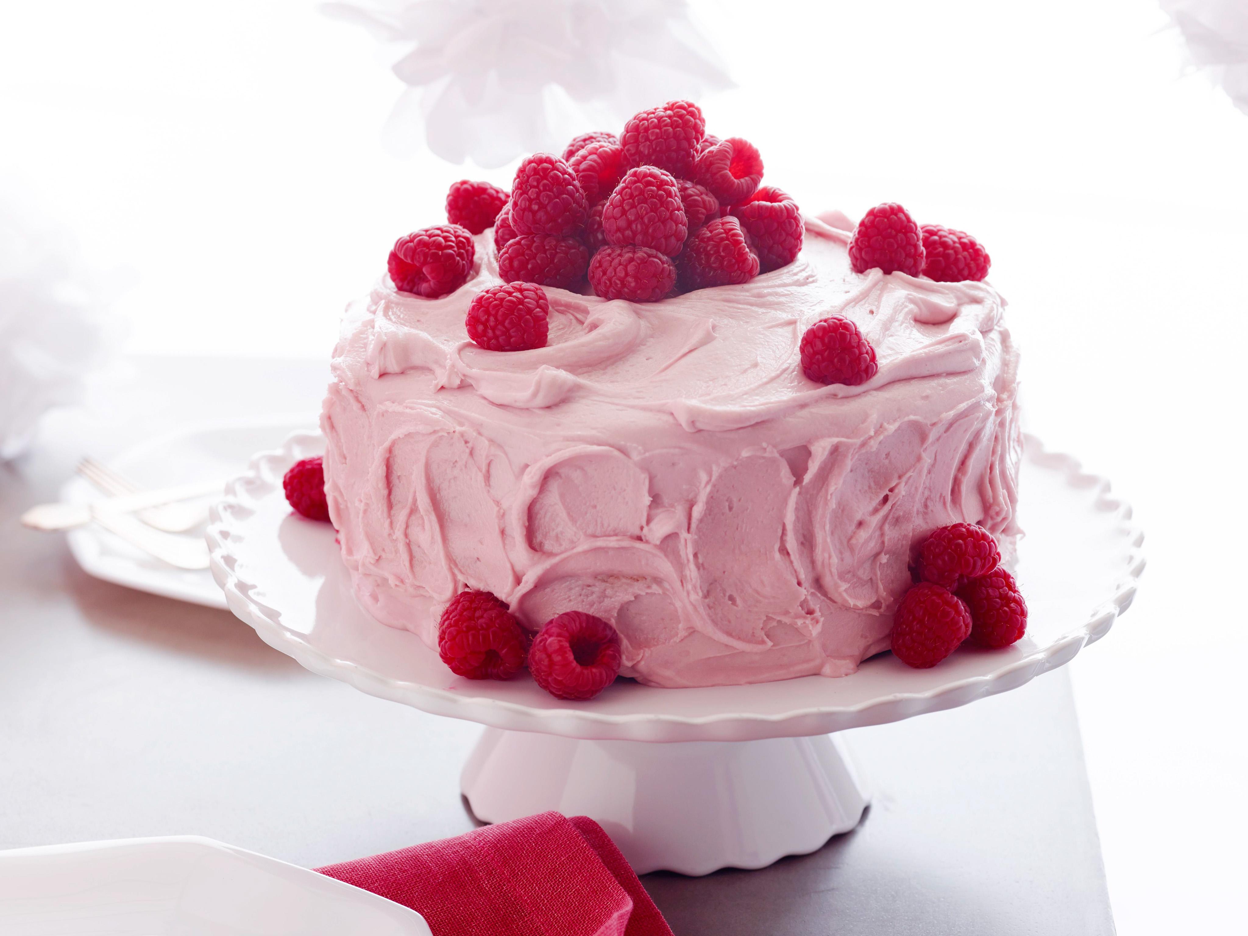Raspberry Cake Food