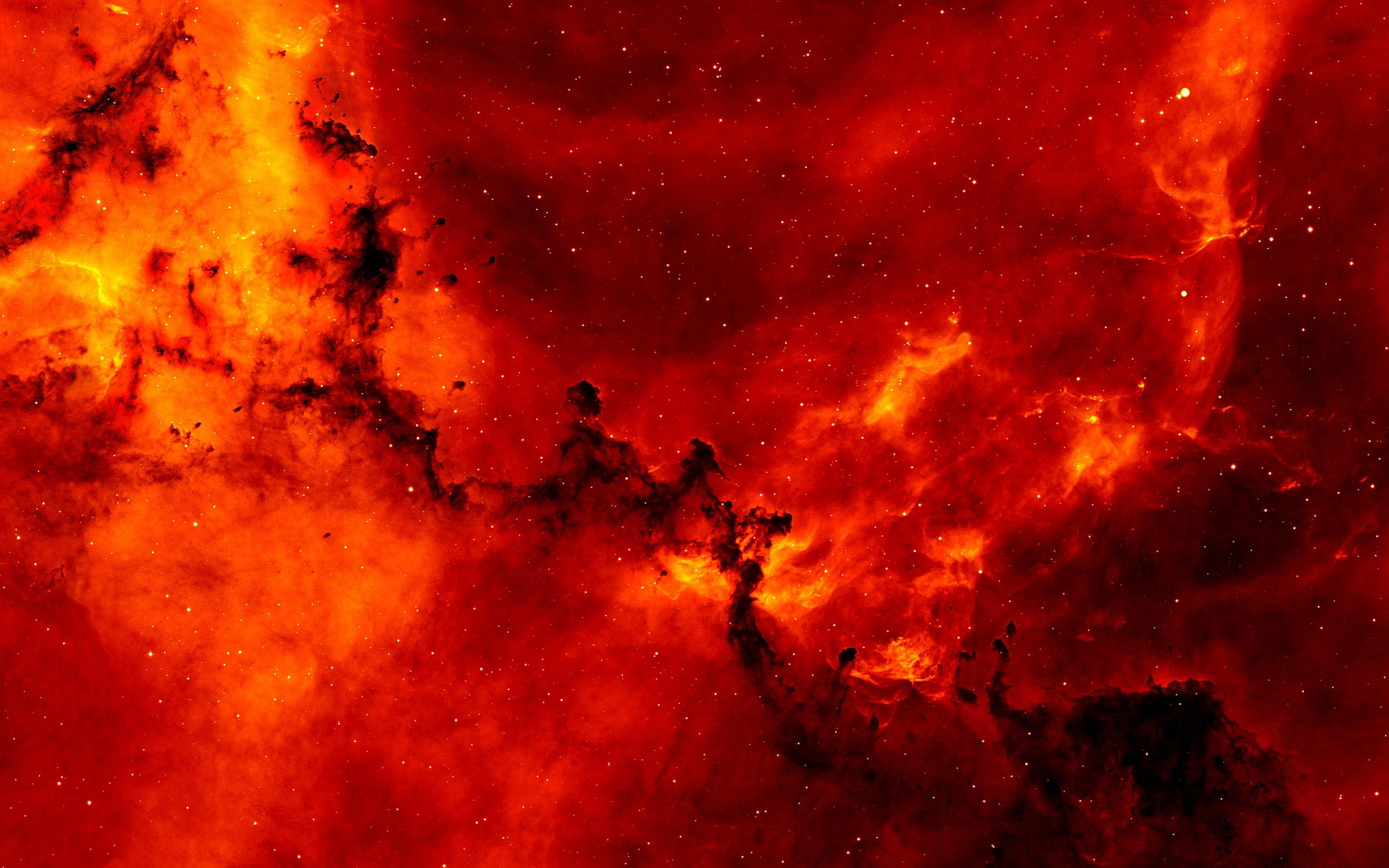 Red cosmic nebula
