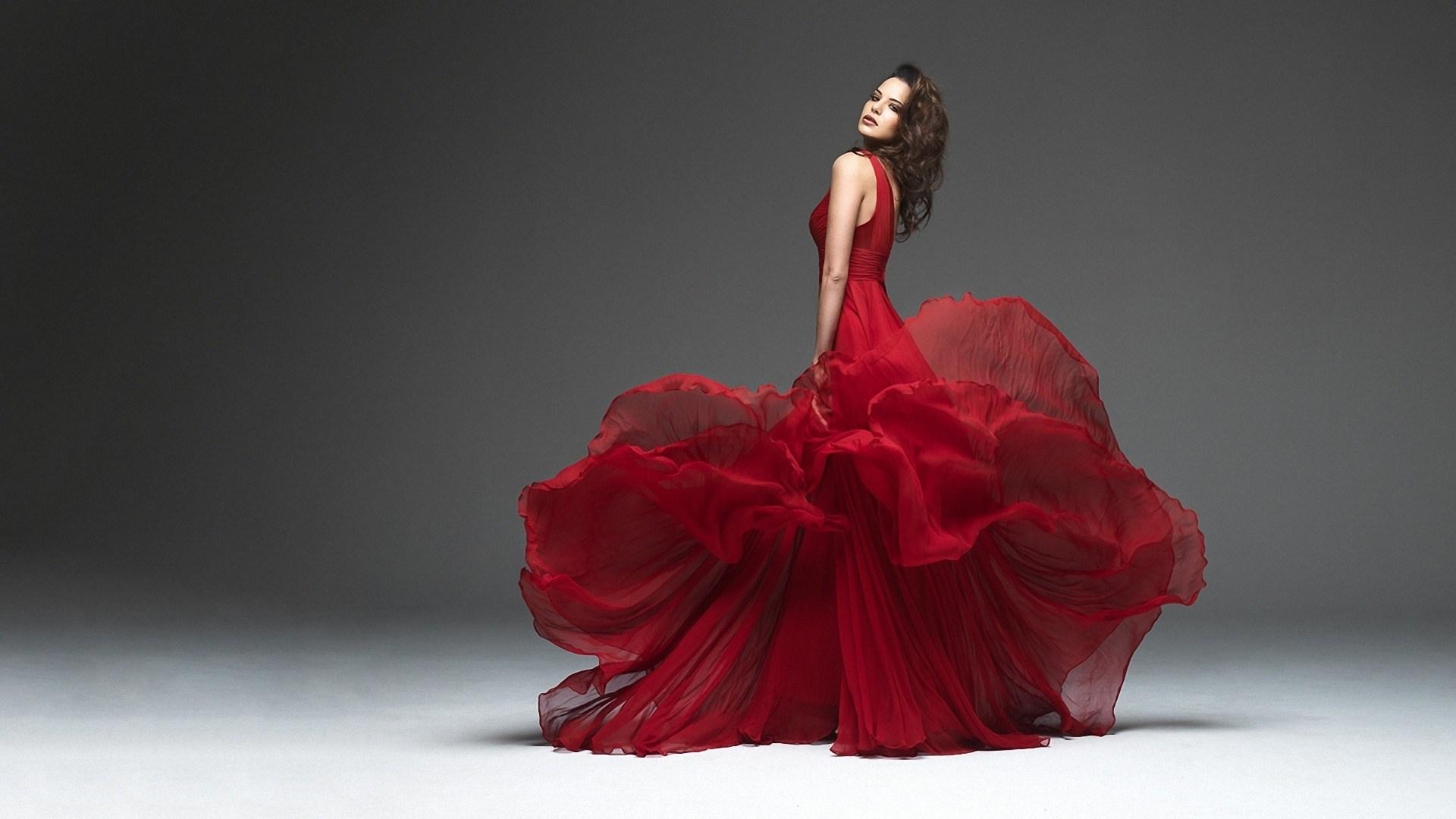 Lovely Red Dress Wallpaper 34997 1920x1080 px