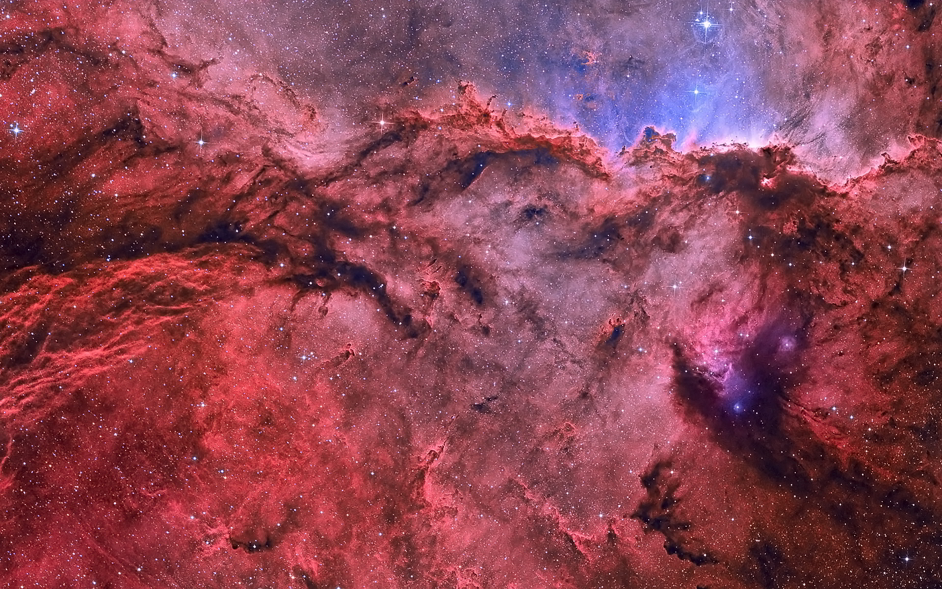 Red emission nebula