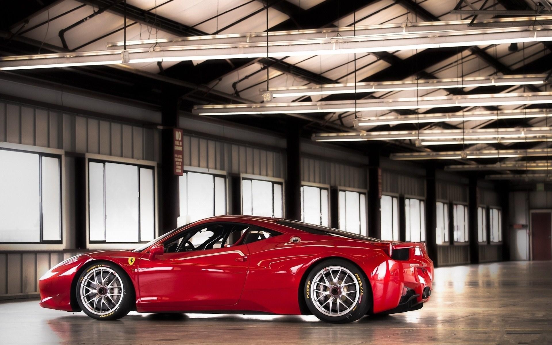 Red Ferrari 458 Challenge Warehouse Photo