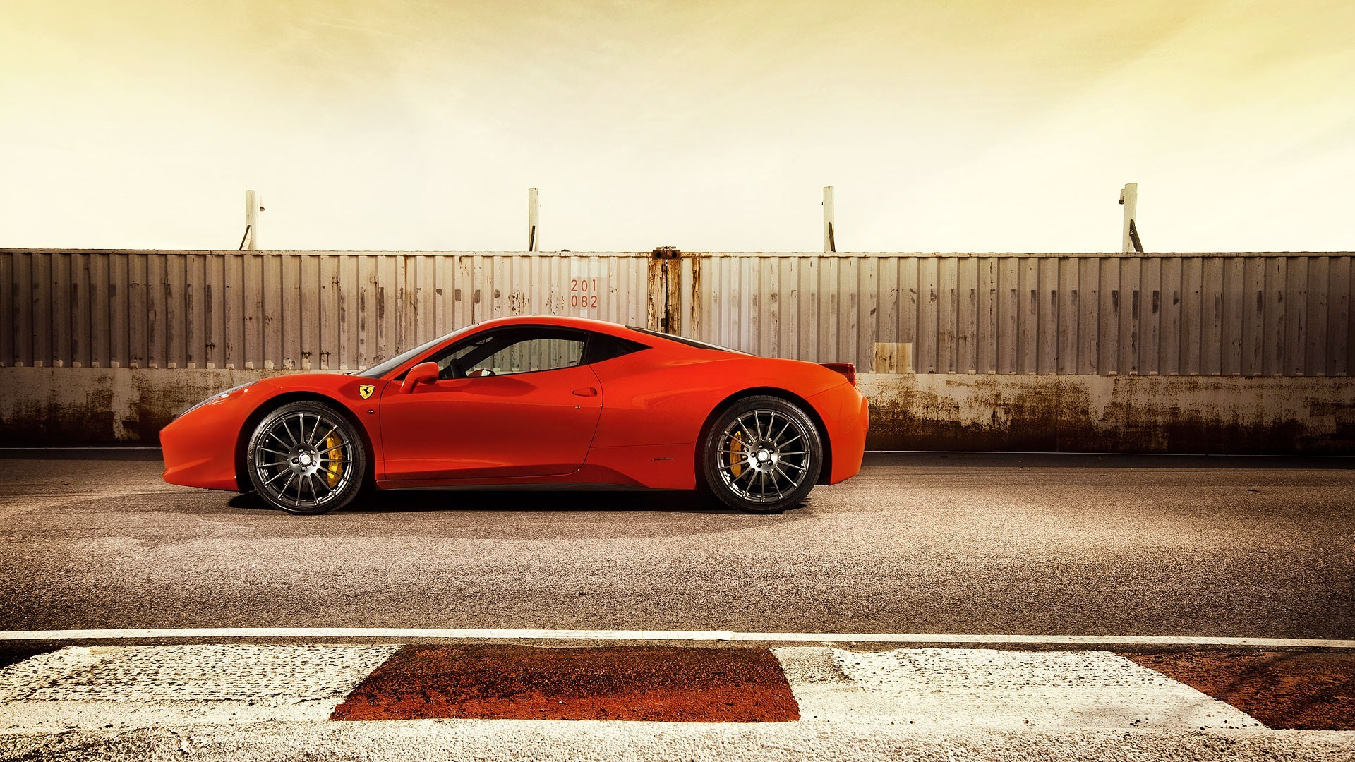 Red Ferrari 458 Track Photo