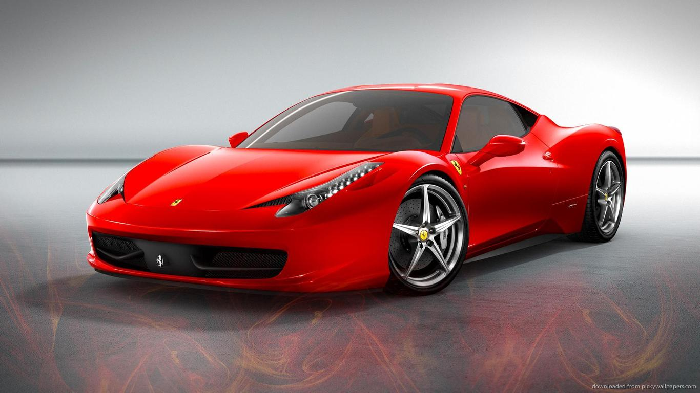 Red Ferrari 458 Wallpaper