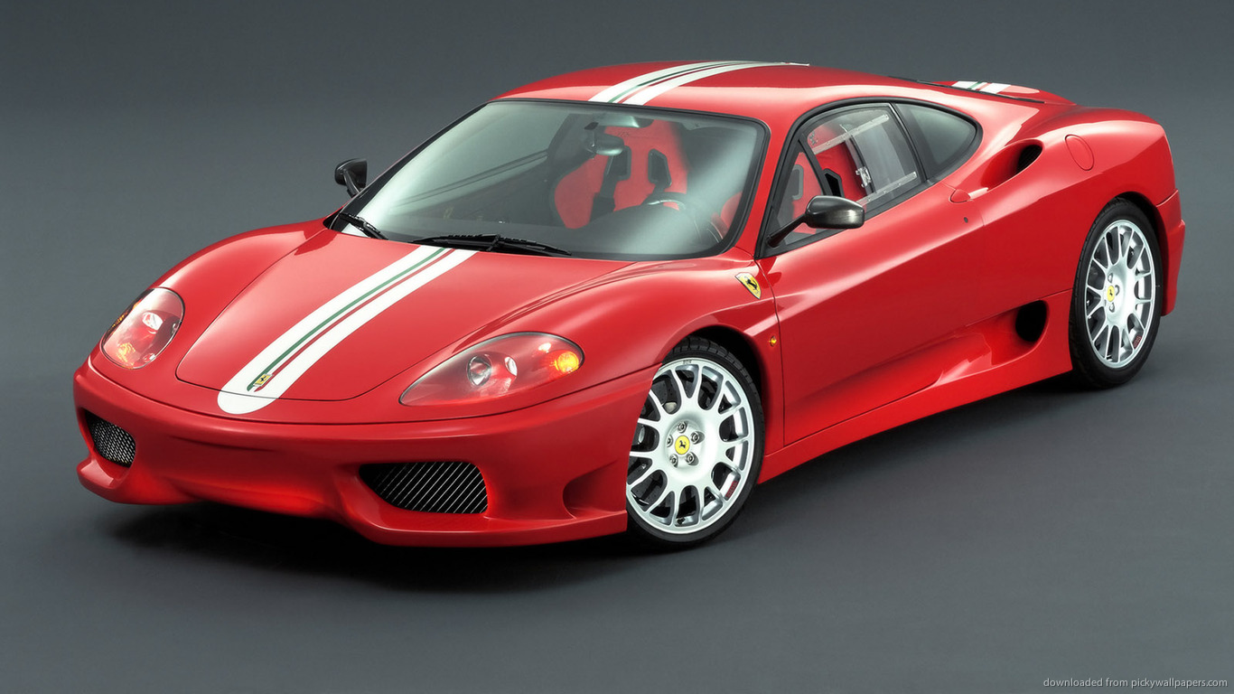 ... Red Ferrari 360 for 1366x768