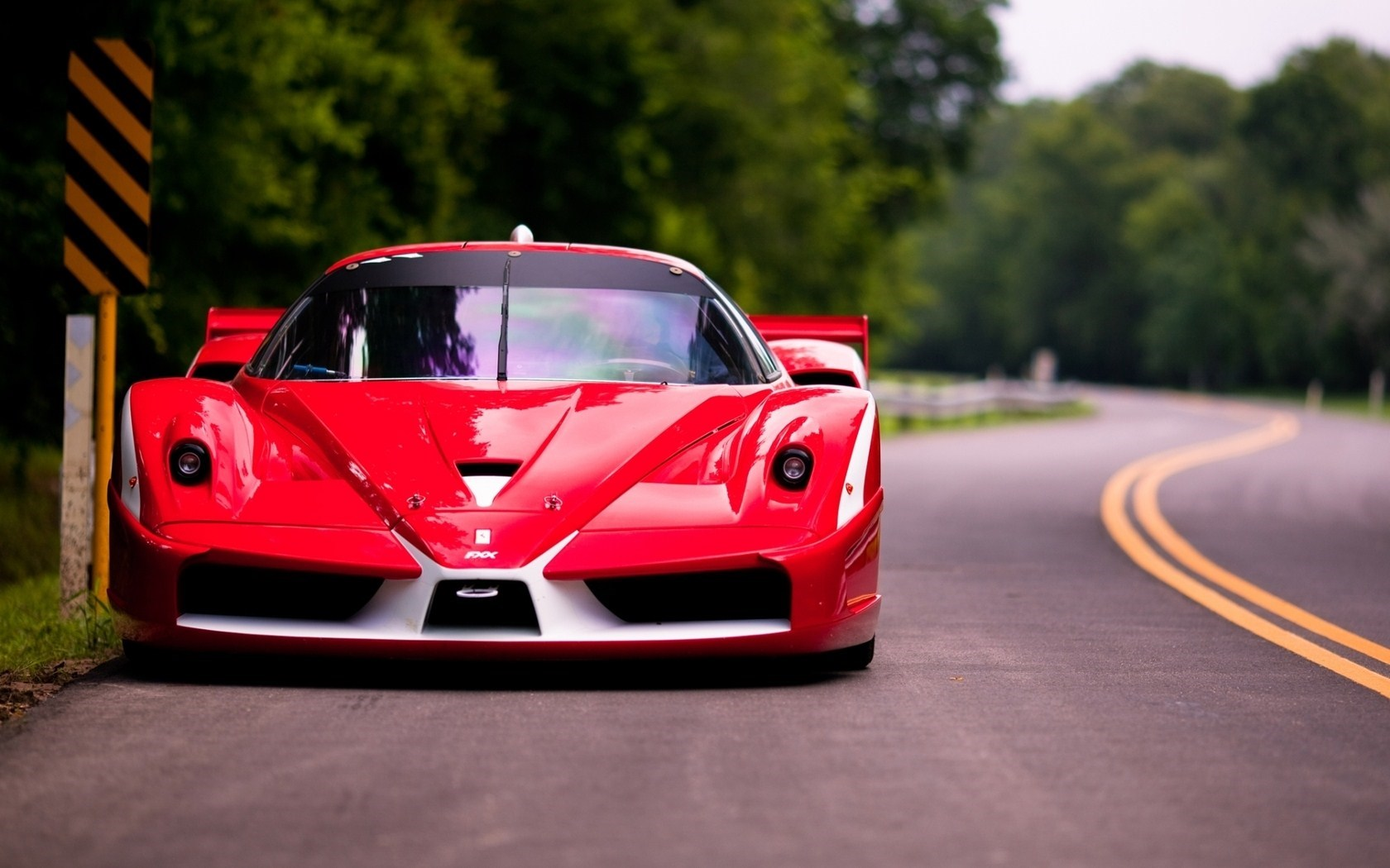 Red Ferrari FXX Road Photo