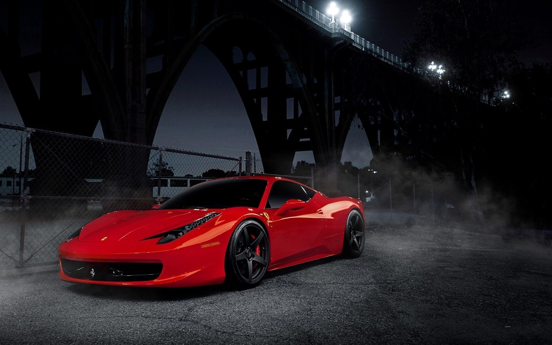 Red Ferrari 458 Italia Wallpaper for iPhone