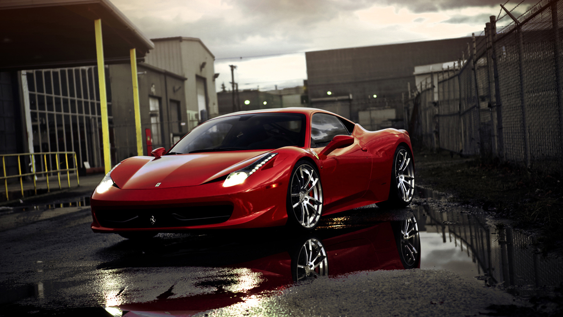 red ferrari wallpaper hd-#7