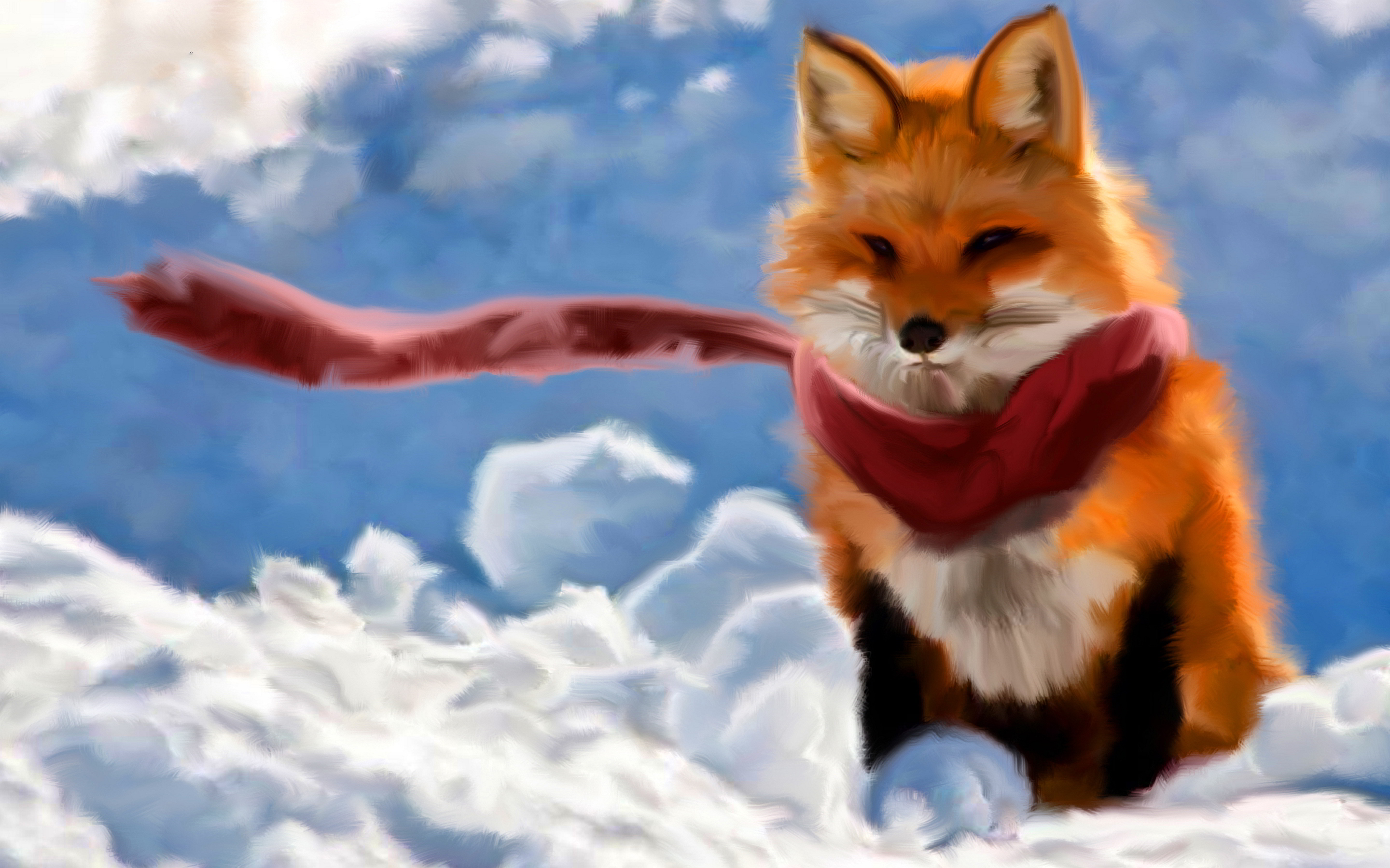 Red fox paint