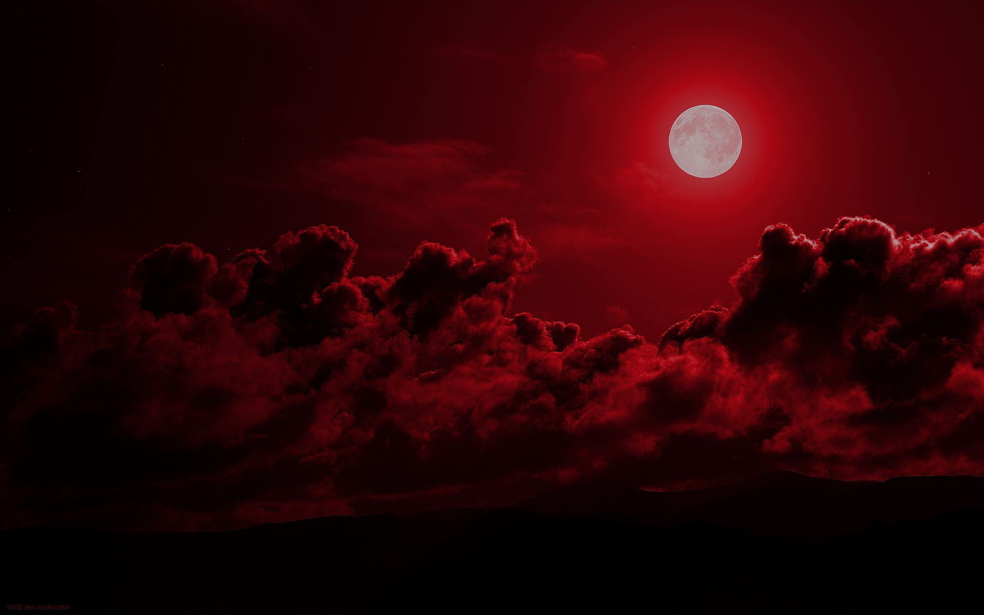 Red moon night