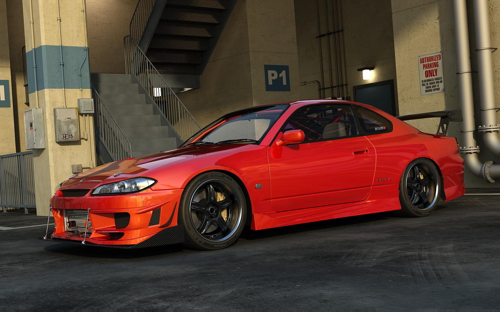 Red Nissan Silvia Wallpaper