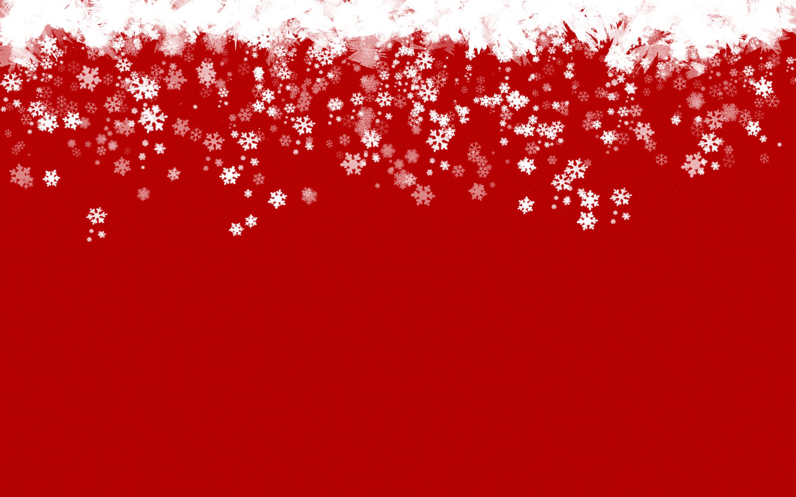 Red Snowflake Wallpaper