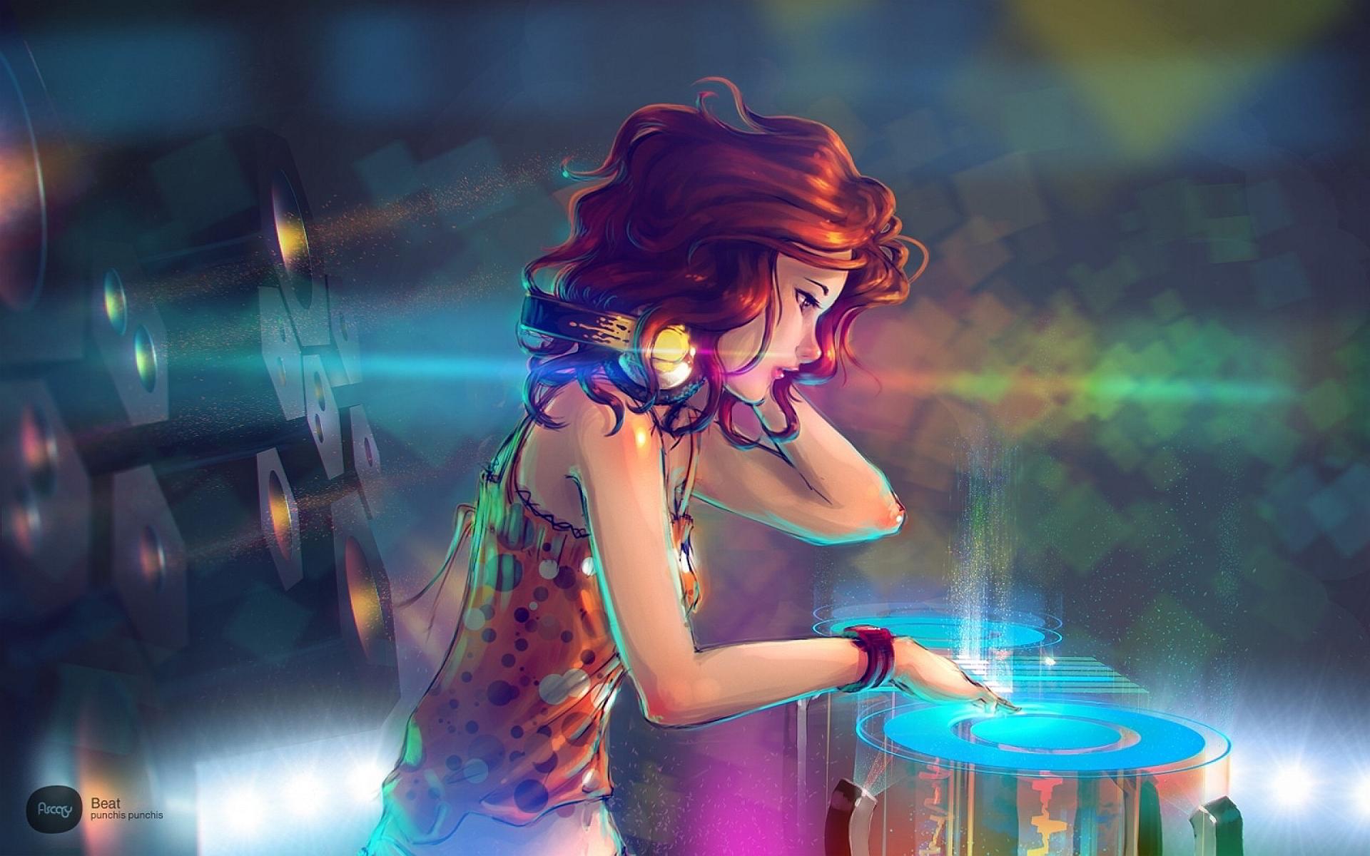 Redhead dj girl