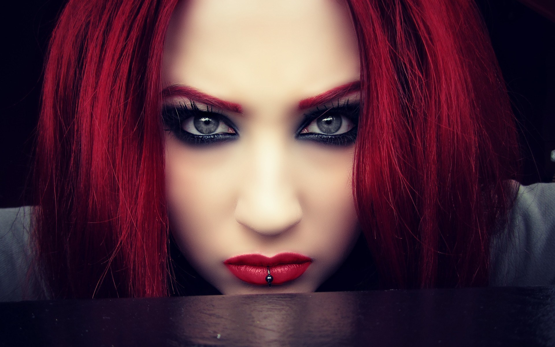 Redhead Girl Look Red Lips
