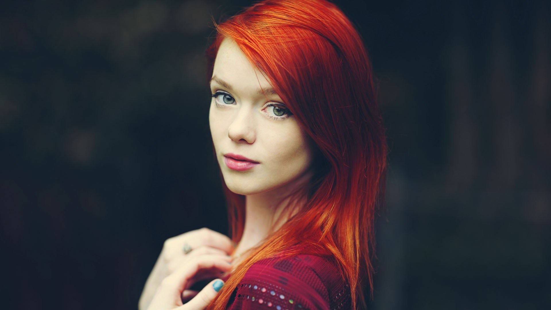 Redhead Girl Model Photo