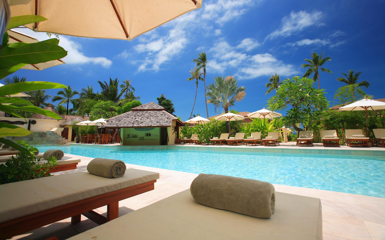 Tropical resort pool