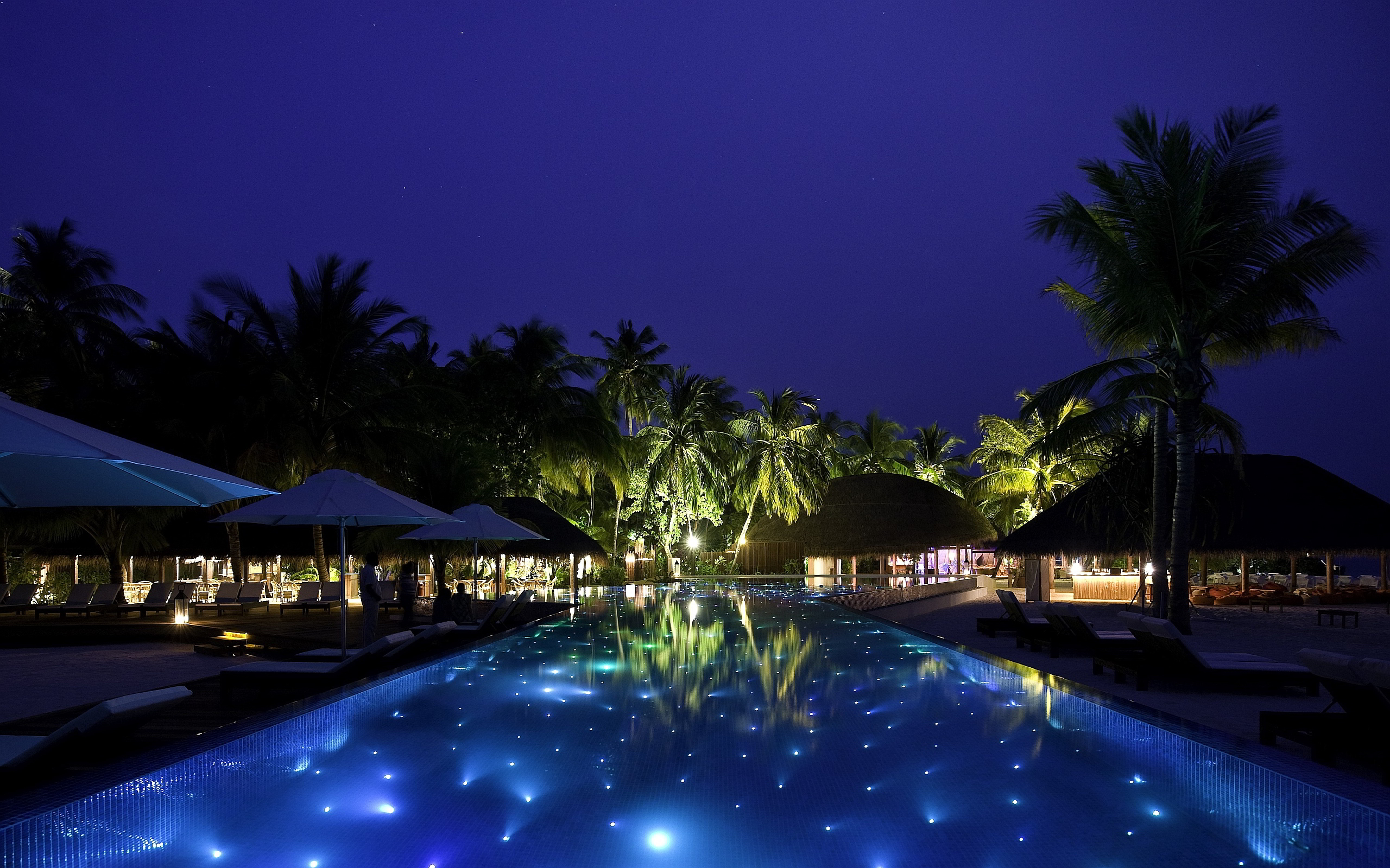 Resort pool lights